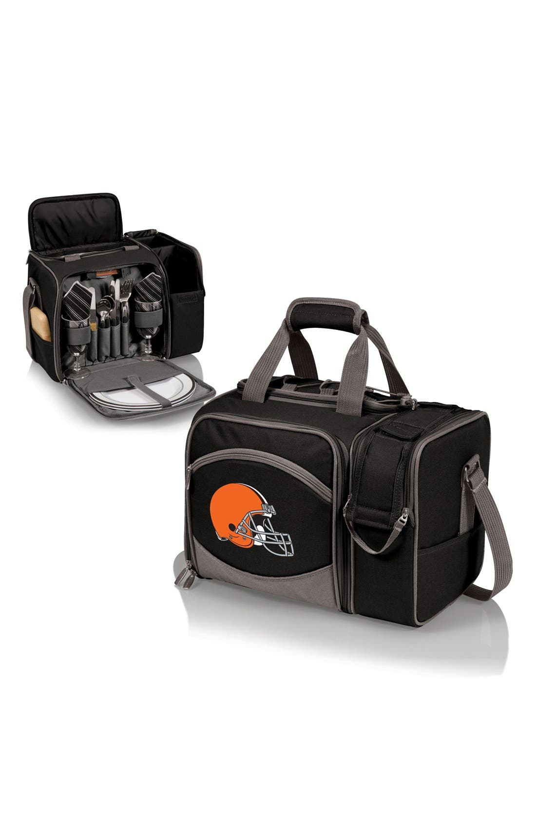 'Malibu' NFL Insulated Picnic Pack,                             Alternate thumbnail 2, color,                             Cleveland Browns