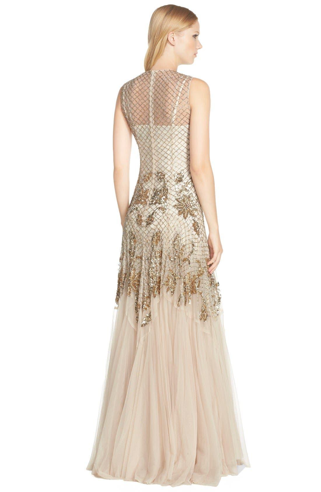 Alternate Image 2  - Needle & Thread Embellished Mesh Gown