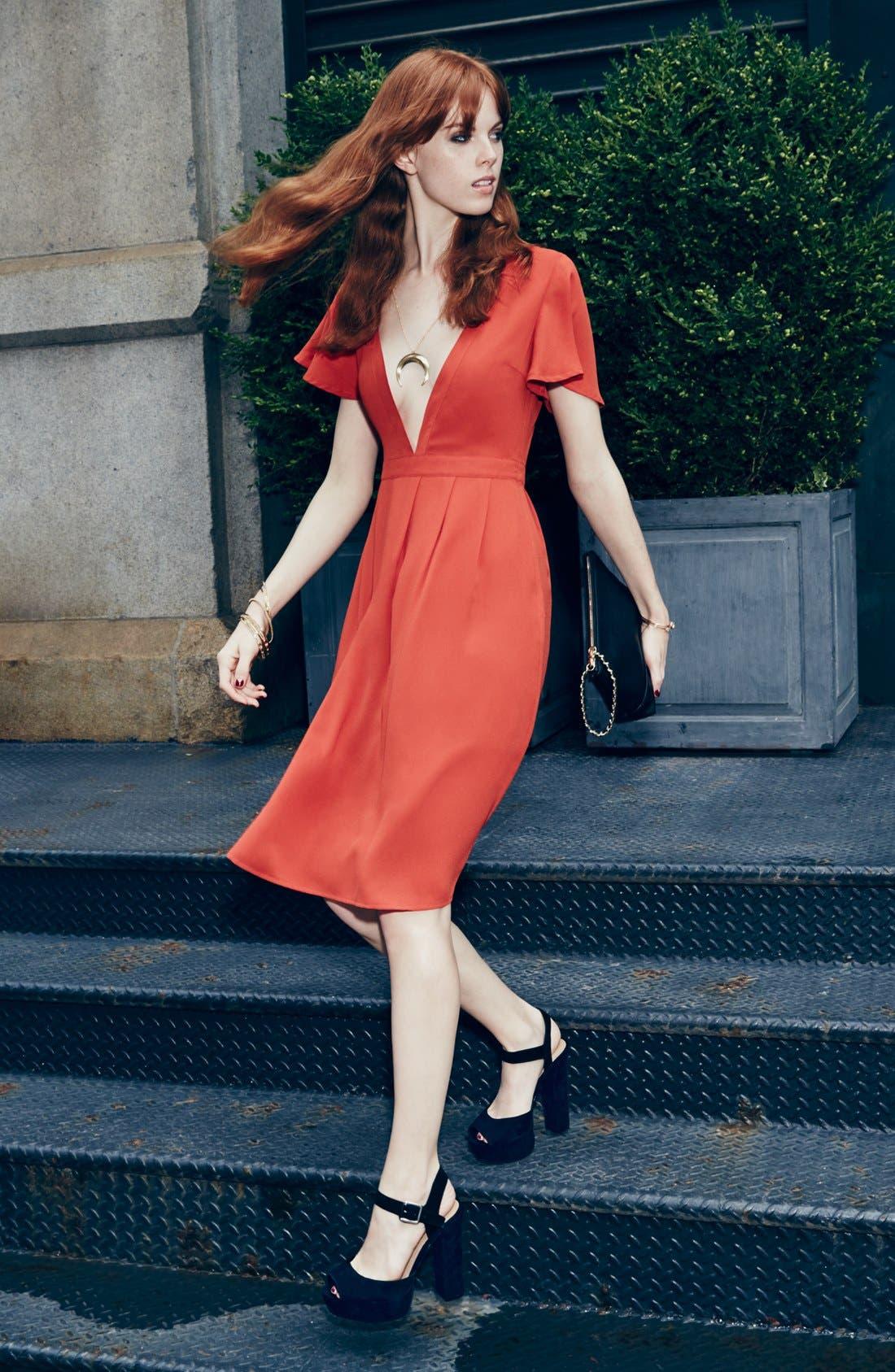 Alternate Image 4  - Storee V-Neck Midi Dress