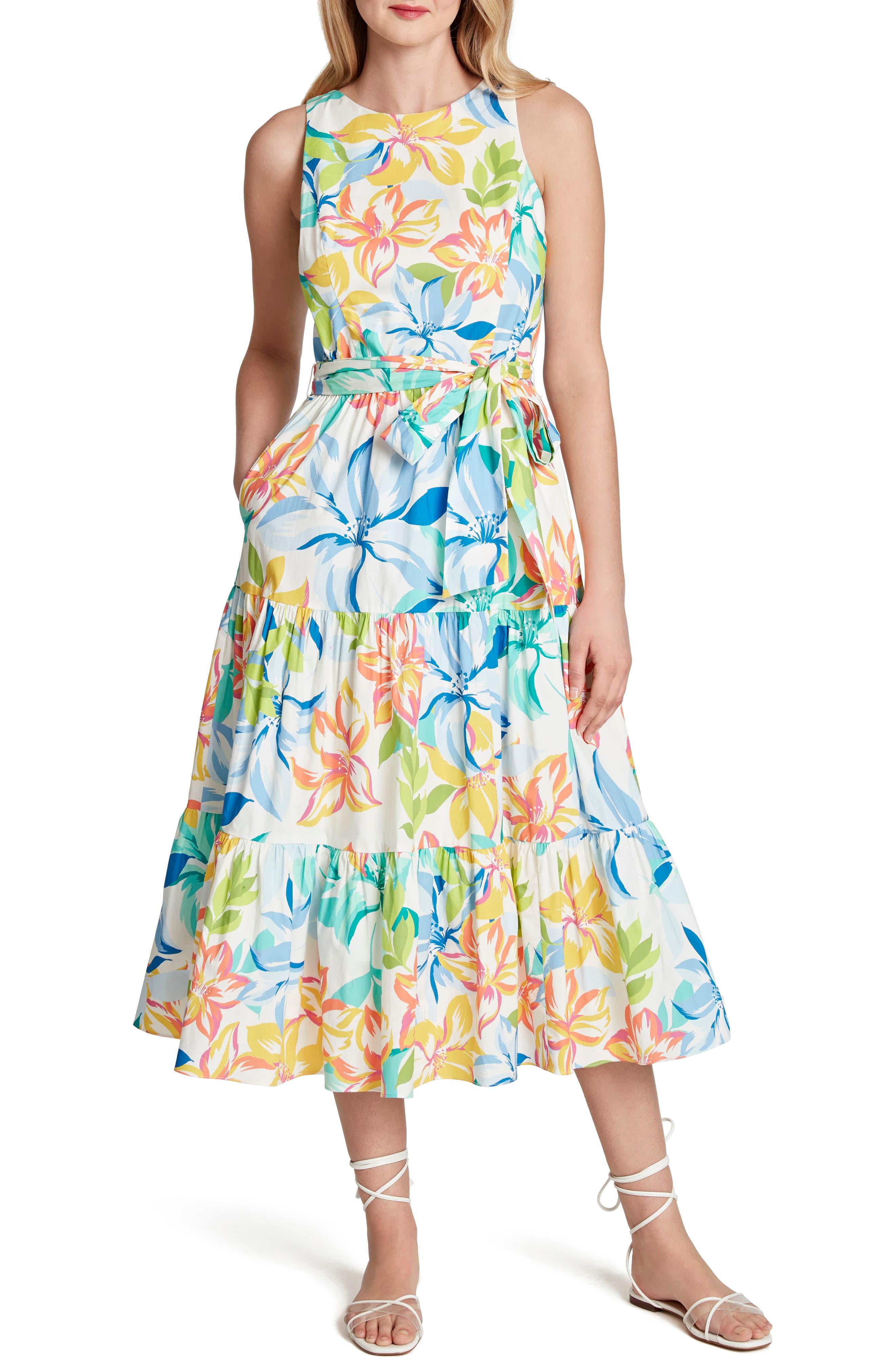Tahari Womens Novelty Foil Dress Dress