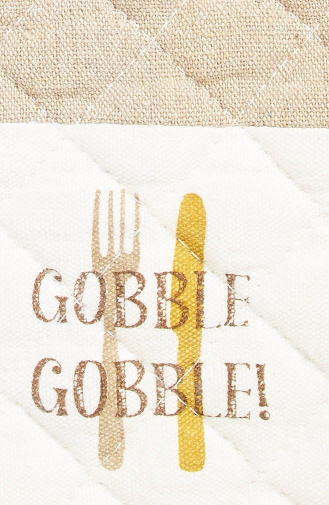 Alternate Image 2  - Levtex'Gobble Gobble!' Quilted Oven Mitt