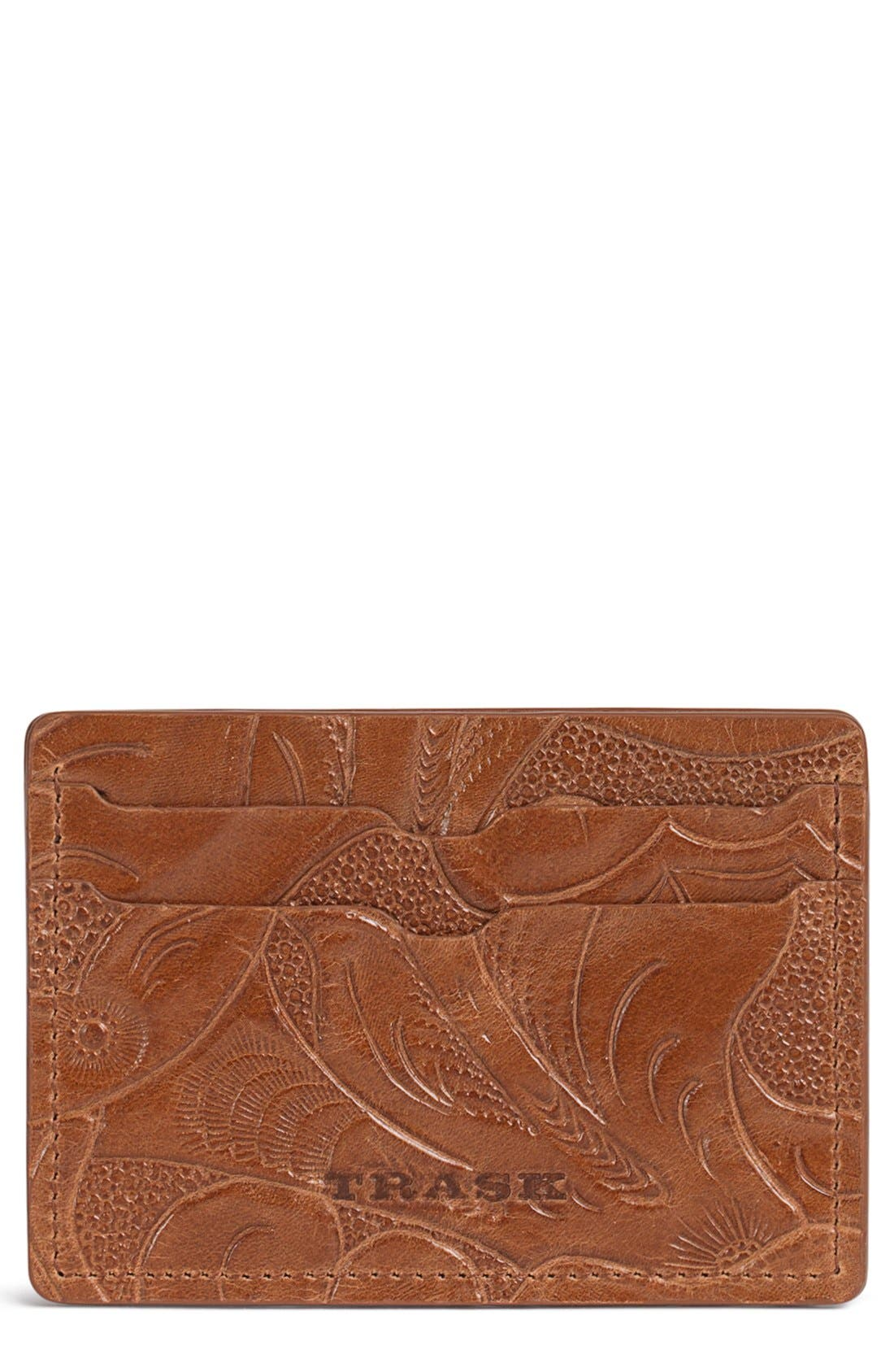 TRASK Jackson Italian Steer Leather Card Case