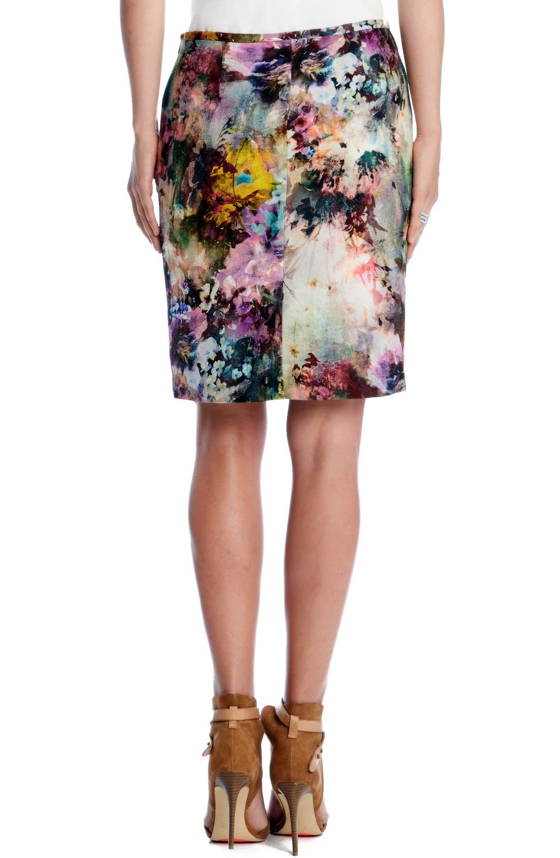 Alternate Image 2  - Karen Kane 'Avant Garden' Print Pencil Skirt