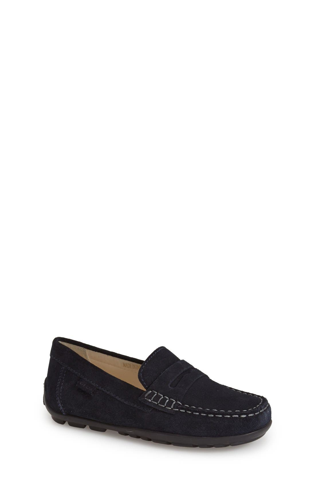 'Fast' Penny Loafer,                             Main thumbnail 1, color,                             Navy