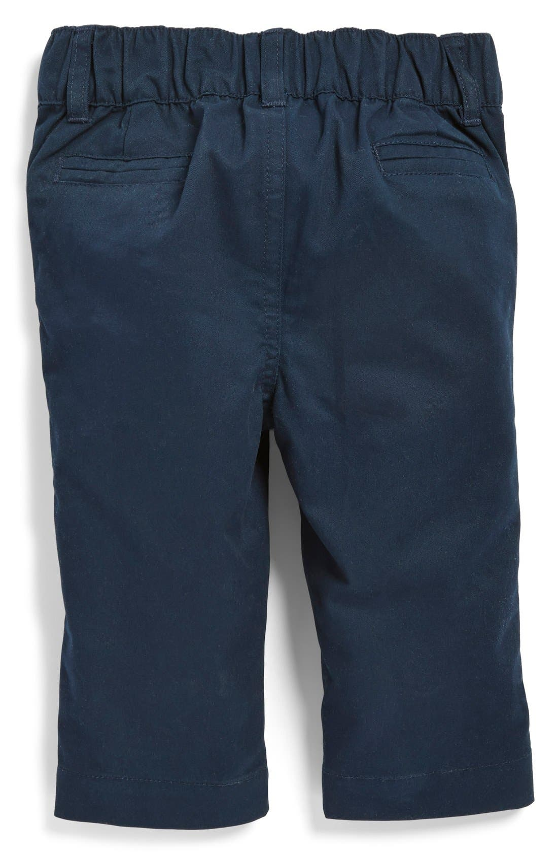 Alternate Image 2  - Andy & Evan Flat Front Twill Pants (Baby Boys)