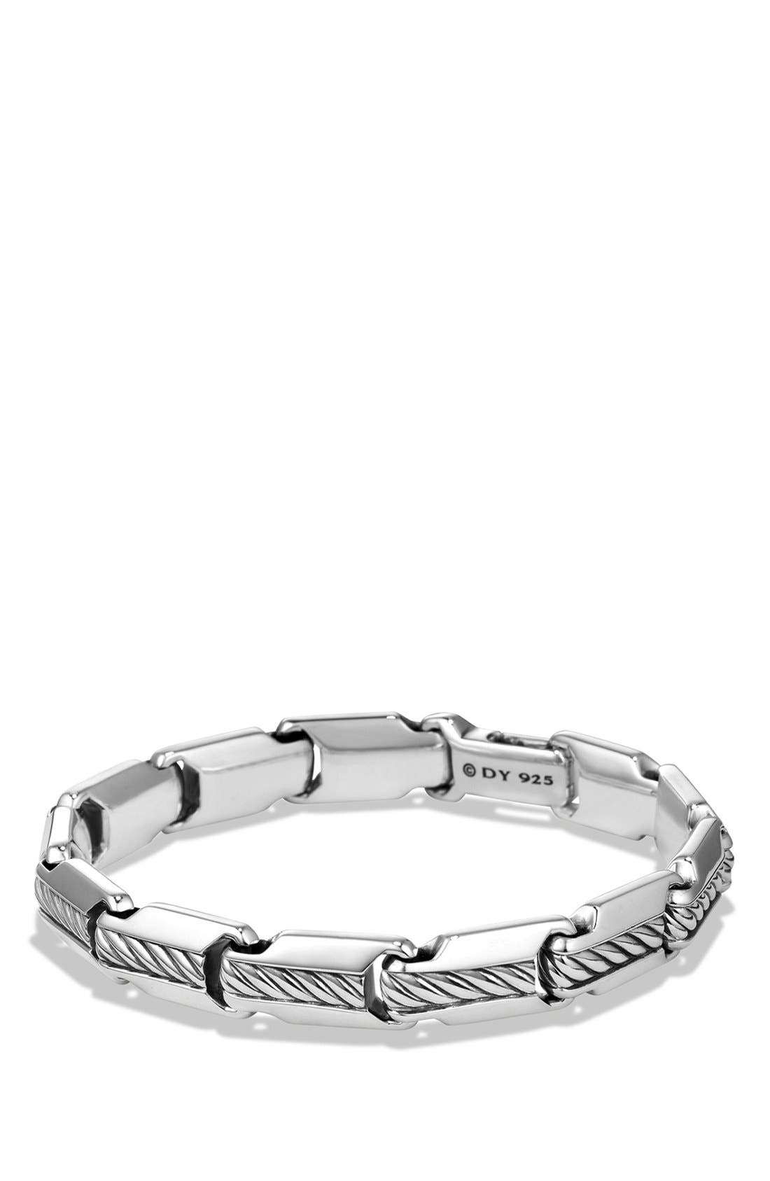 'Cable Classics' Beveled Edge Chain Bracelet,                         Main,                         color, Silver