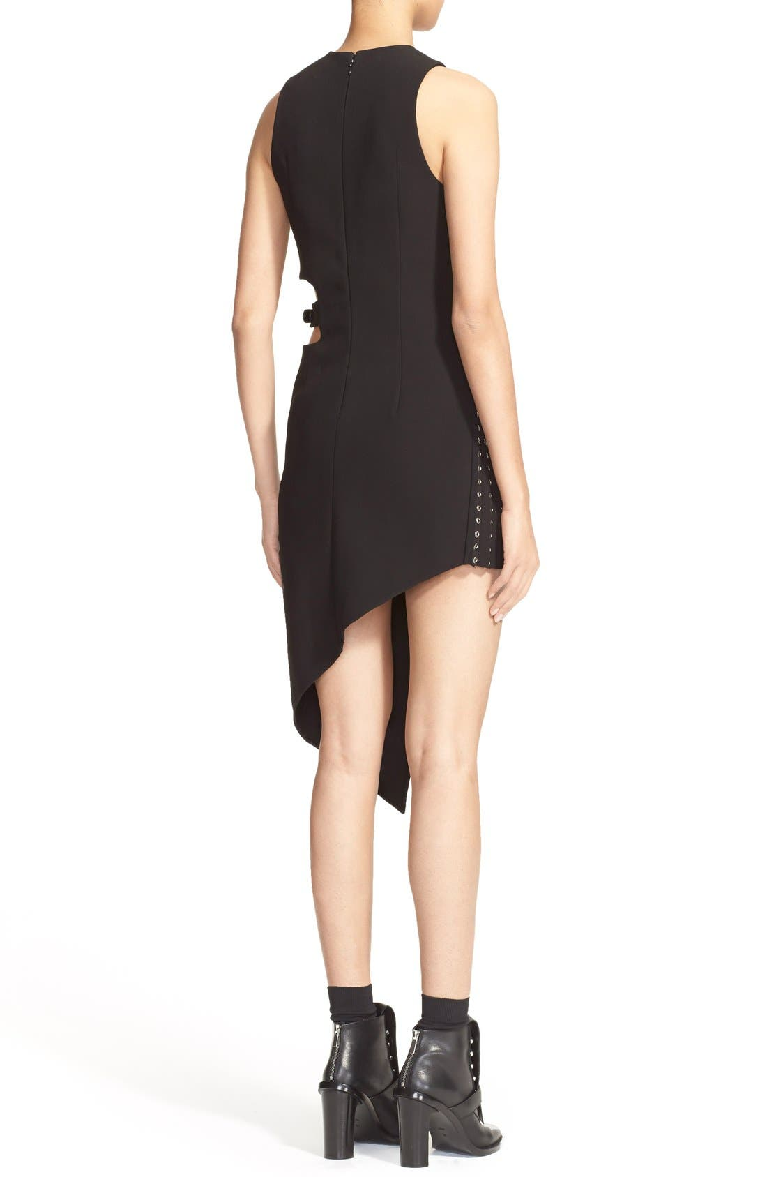 Alternate Image 2  - Anthony Vaccarello Sleeveless Side Cutout Sheath with Grommet Pleated Panel