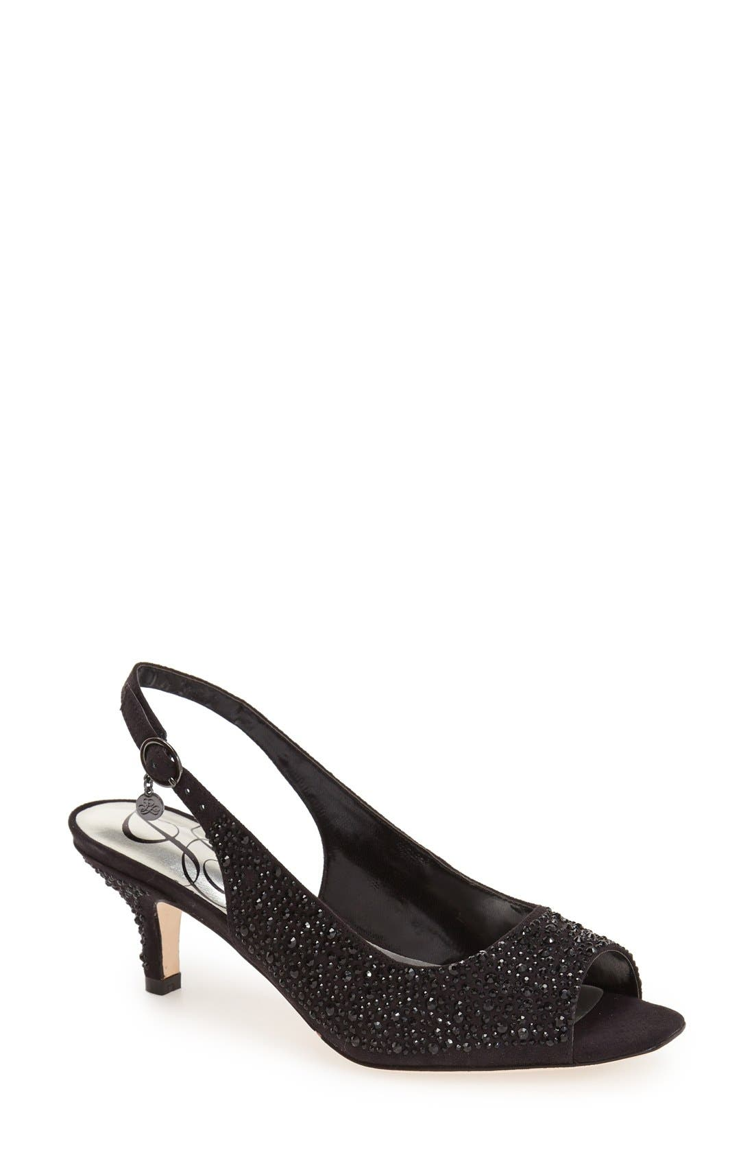 J. Reneé 'Impuls' Crystal Embellished Slingback Pump (Women)