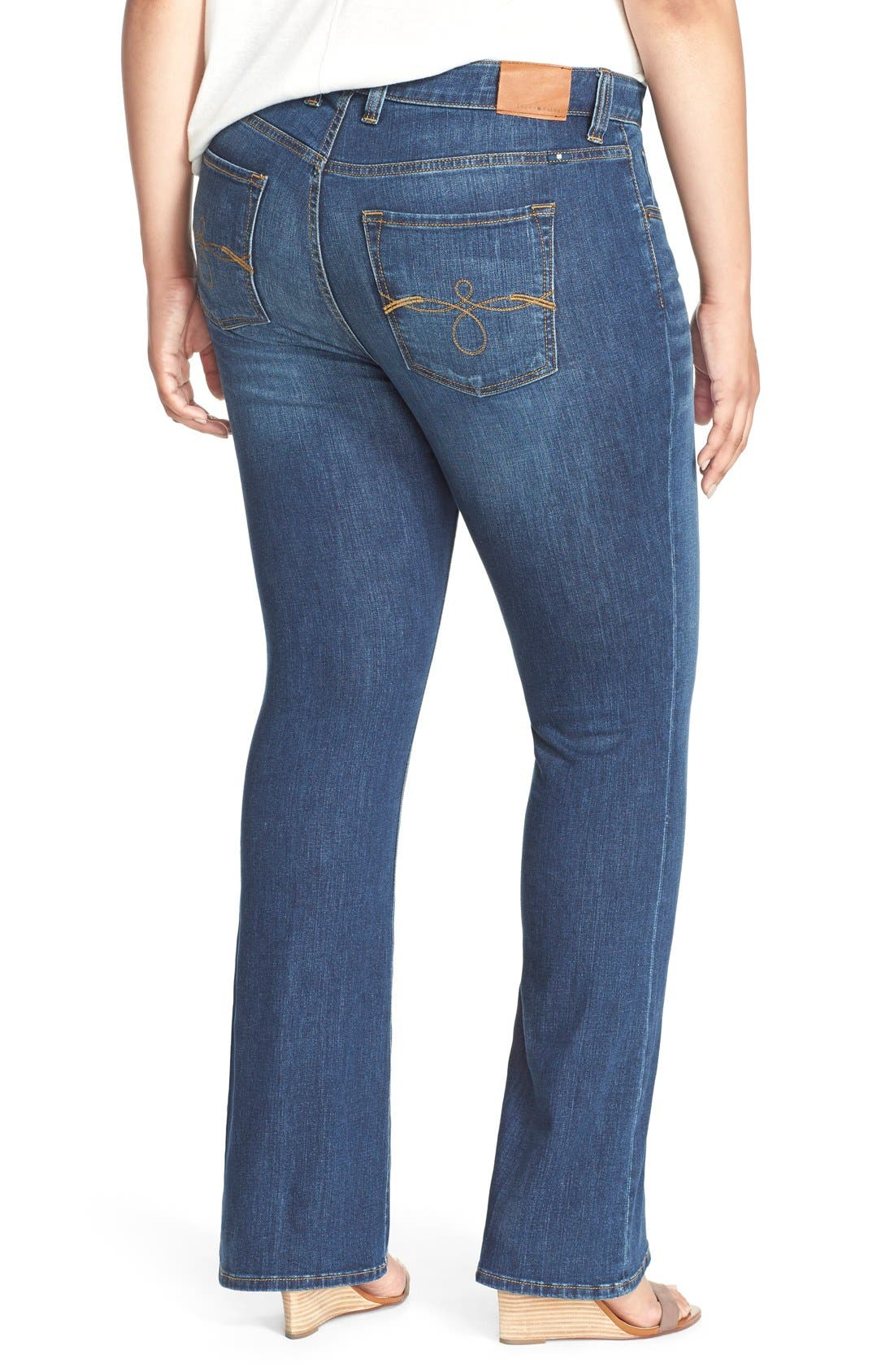 Alternate Image 3  - Lucky Brand Ginger Bootcut Jeans (Amazonite) (Plus Size & Petite Plus)