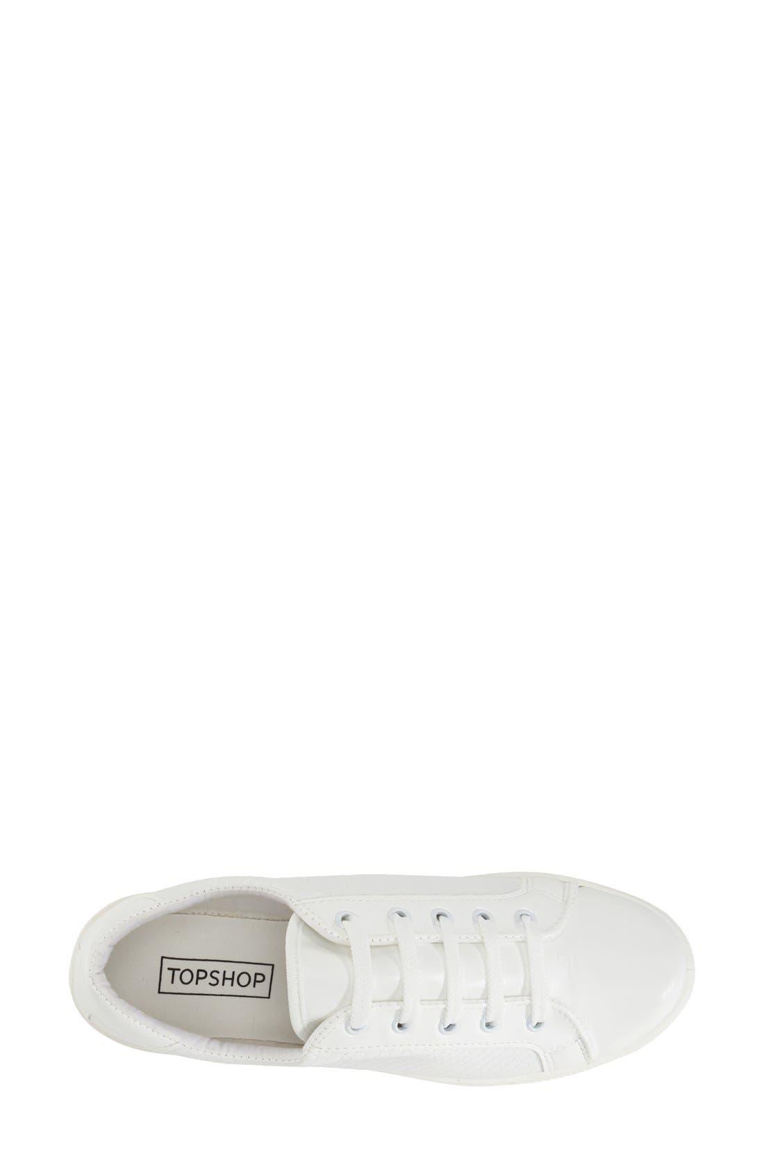 'Copenhagen' Lizard Embossed Faux Leather Sneaker,                             Alternate thumbnail 3, color,                             White