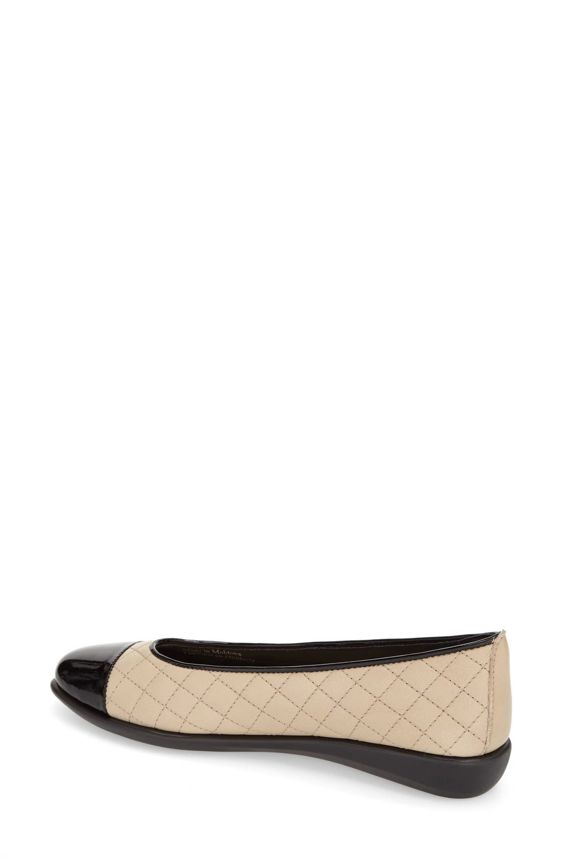 Alternate Image 2  - The FLEXX 'Rise a Smile' Quilted Leather Flat (Women)