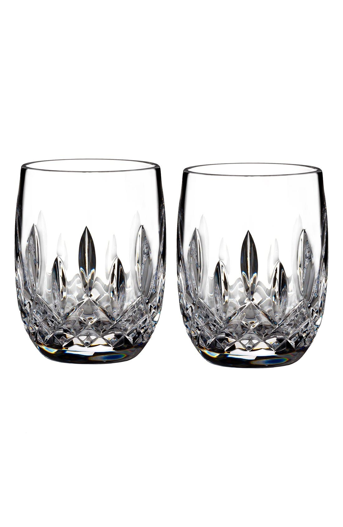 'Lismore' Lead Crystal Rounded Tumblers,                         Main,                         color, Clear