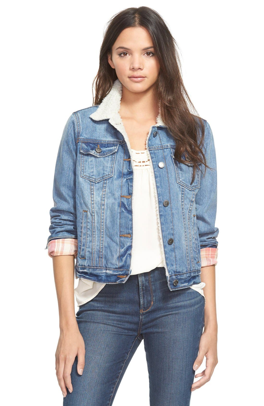 'Santa Fe' Denim Jacket,                         Main,                         color, Blue