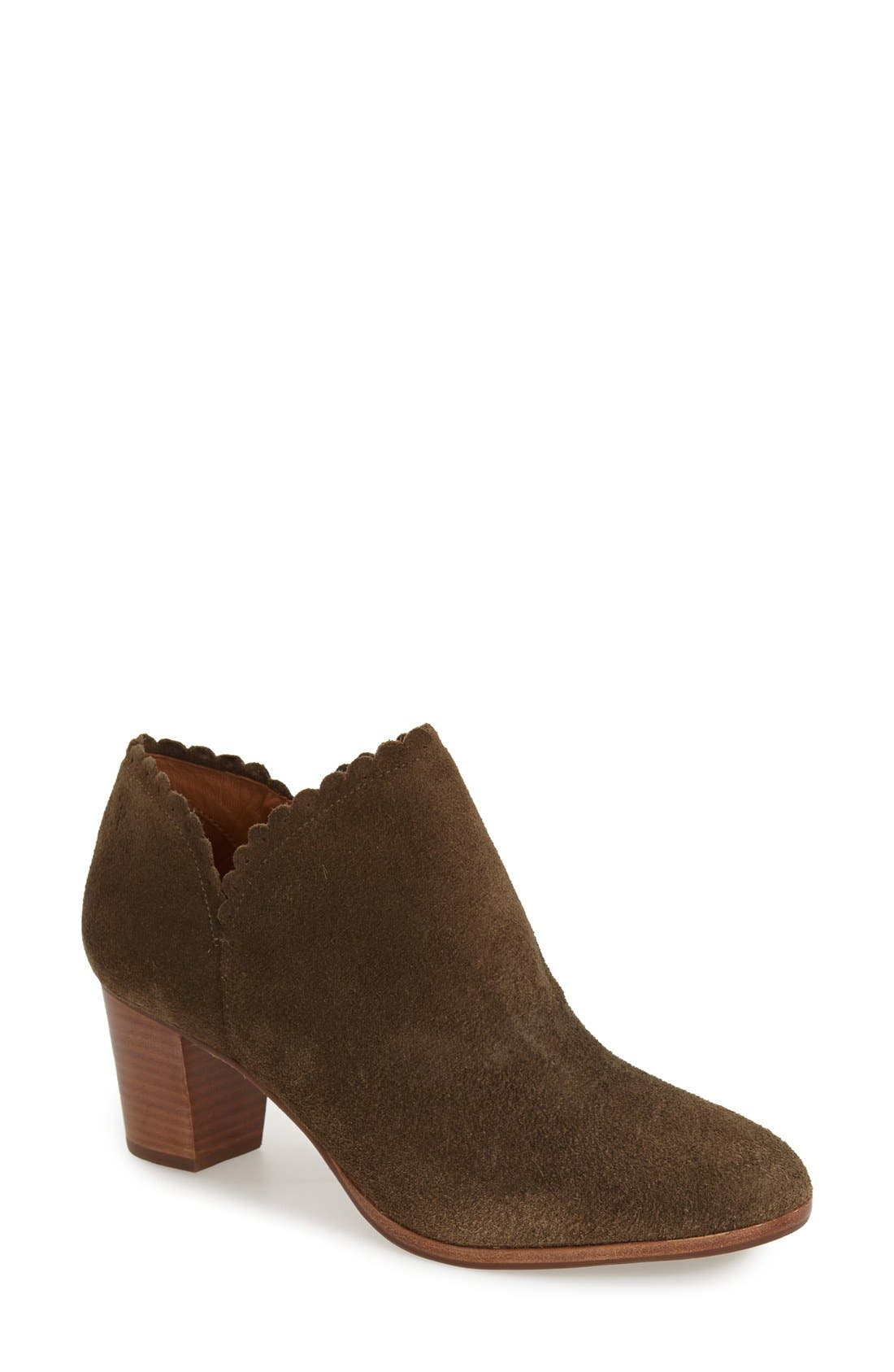 'Marianne' Bootie,                             Main thumbnail 1, color,                             Olive Suede