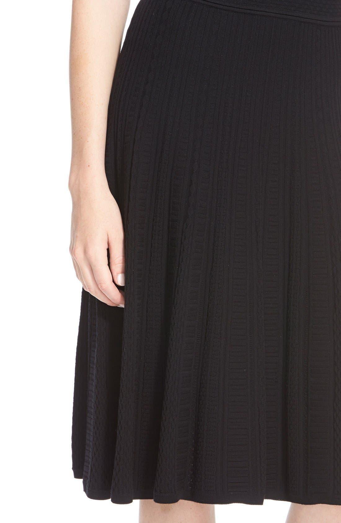Alternate Image 4  - St. John Collection 'Colette'Flared Knit Dress