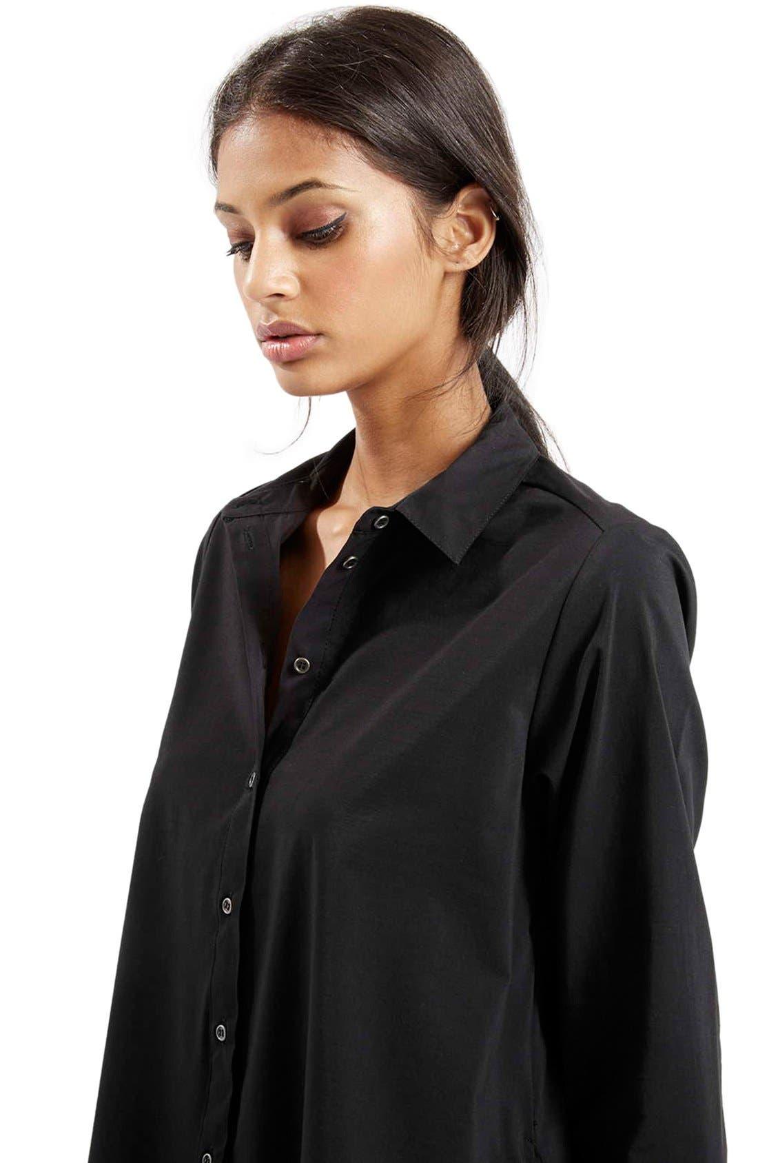 Alternate Image 5  - Topshop Oversize Poplin Shirt