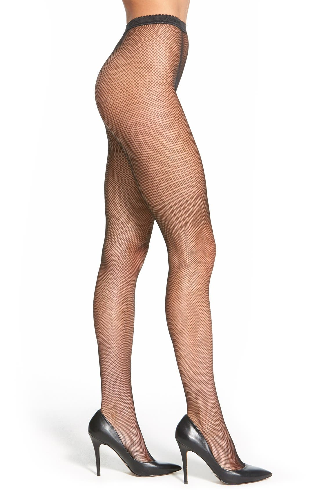 Wolford 'Twenties' Fishnet Tights