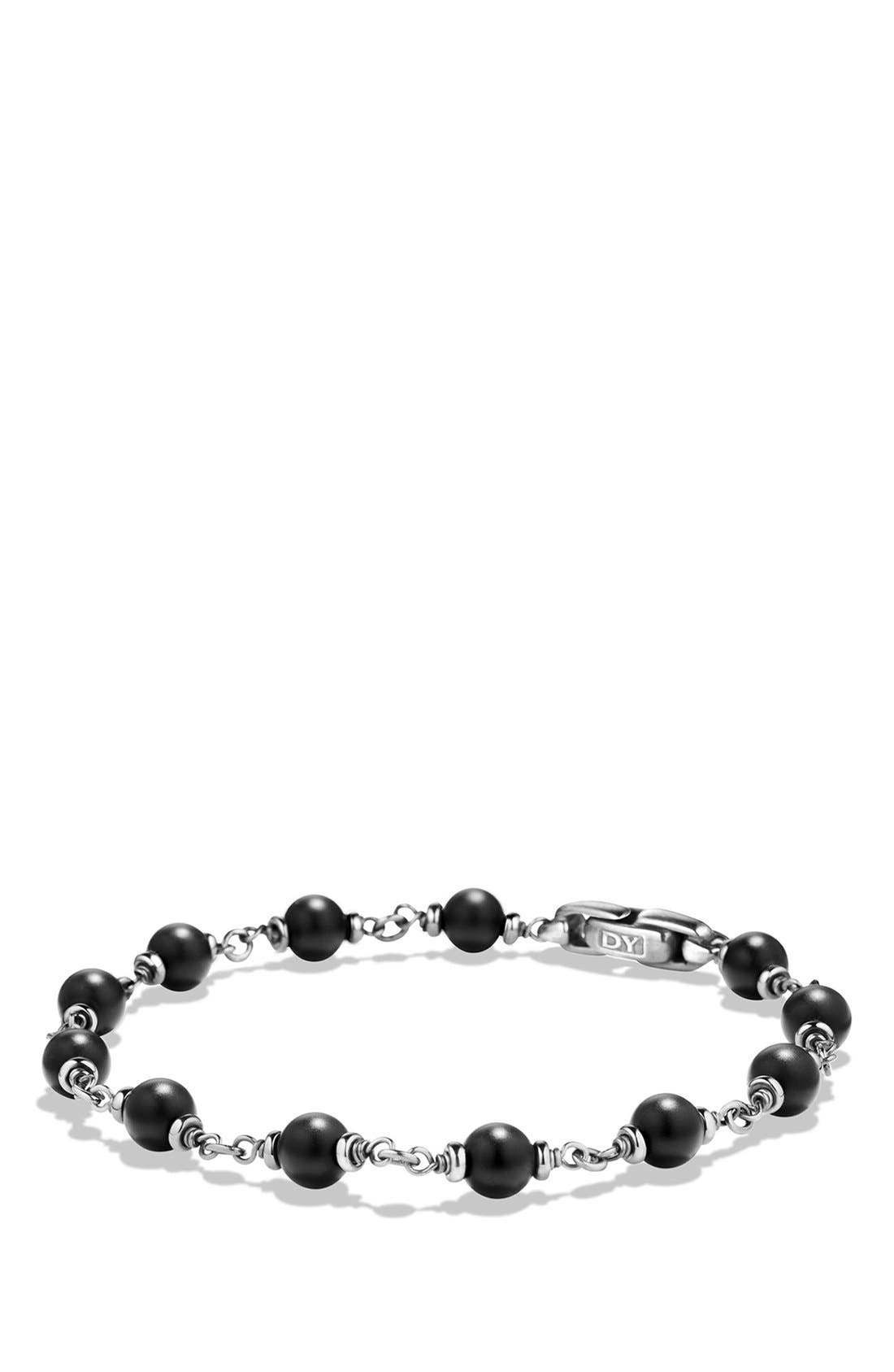 'Spiritual Beads' Rosary Bead Bracelet,                             Alternate thumbnail 2, color,                             Black Onyx