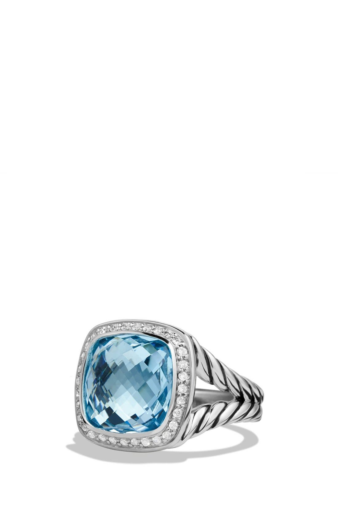 'Albion' Ring with Semiprecious Stone and Diamonds,                         Main,                         color, Blue Topaz