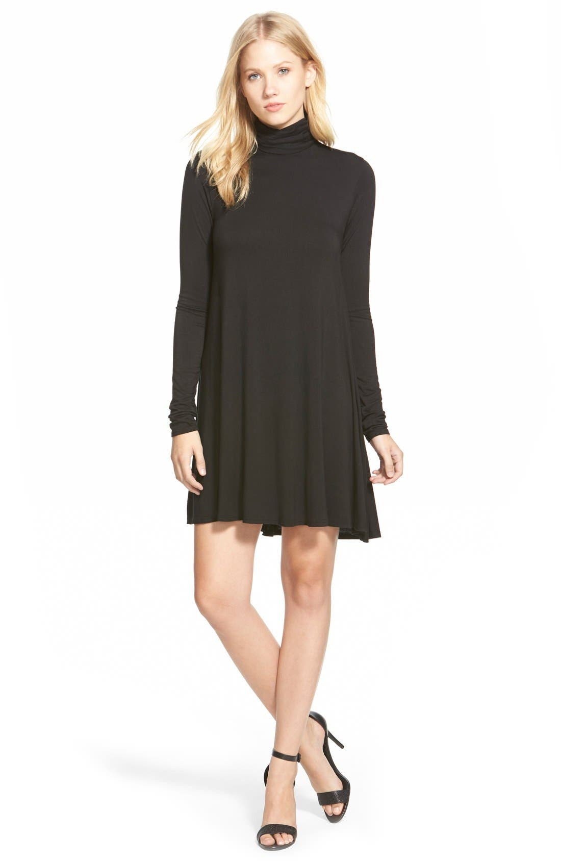 LAmade 'Penny' Turtleneck Trapeze Dress