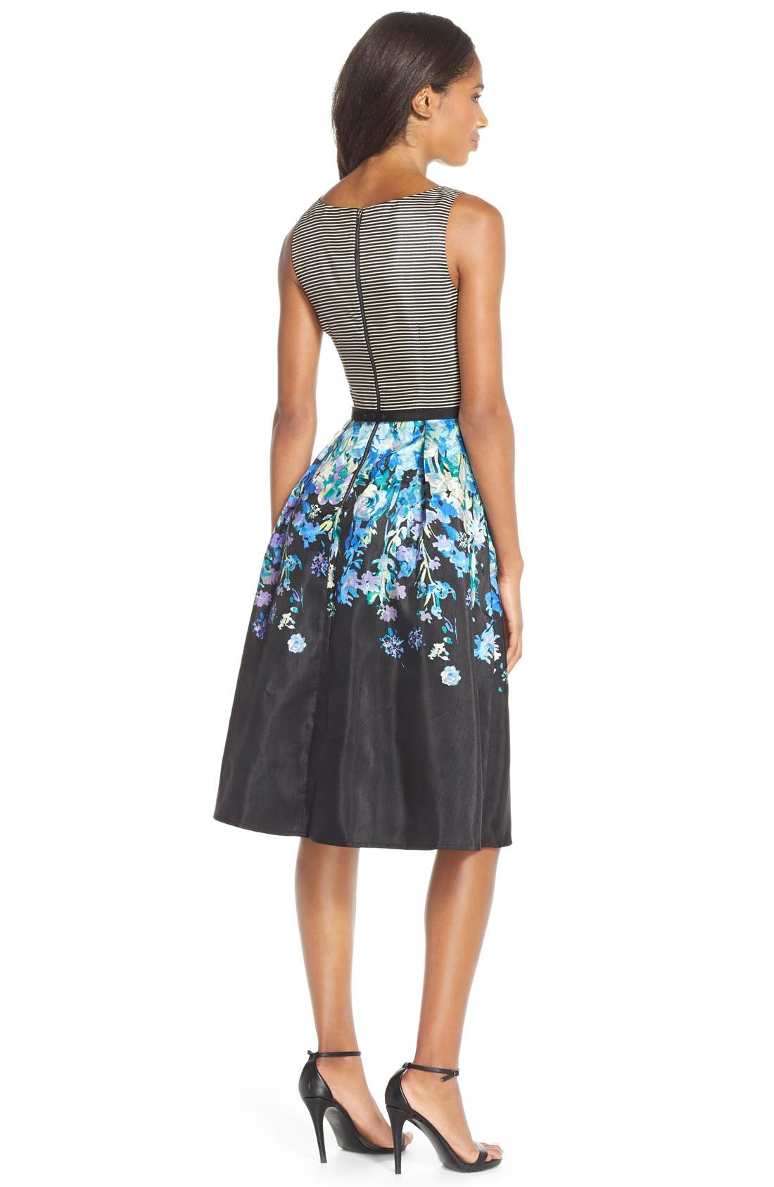 Alternate Image 2  - Gabby Skye Print Shantung Fit & Flare Dress