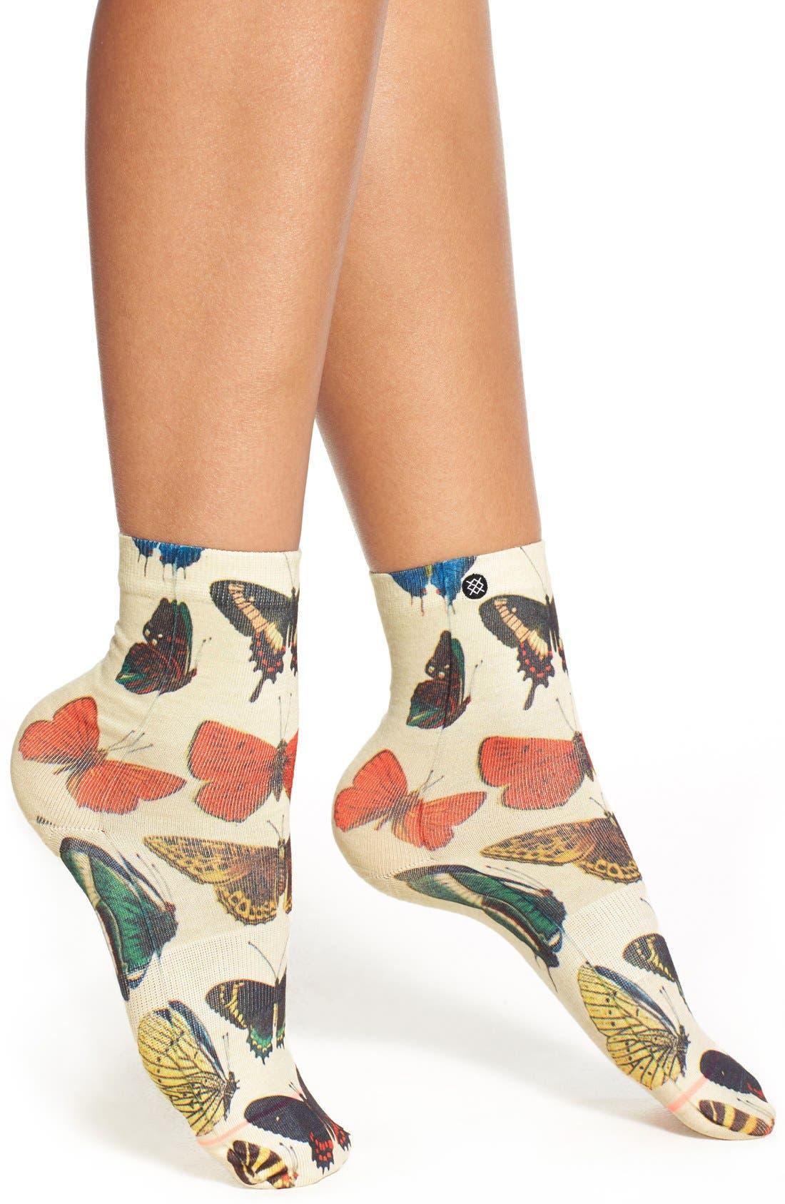 Alternate Image 1 Selected - Stance 'Flutterbye' Ankle Socks