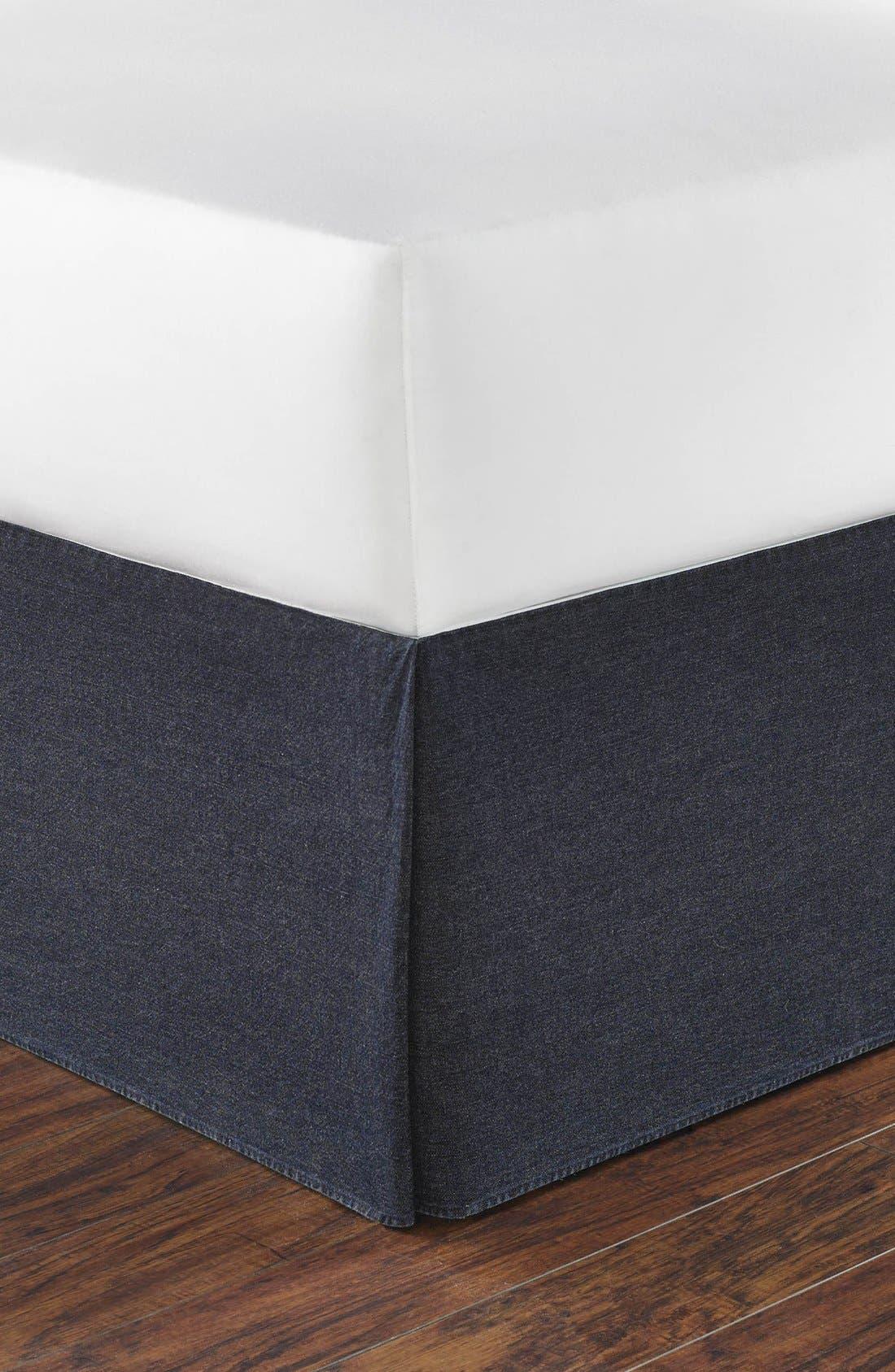 'Seaward' Bed Skirt,                             Main thumbnail 1, color,                             Denim Blue