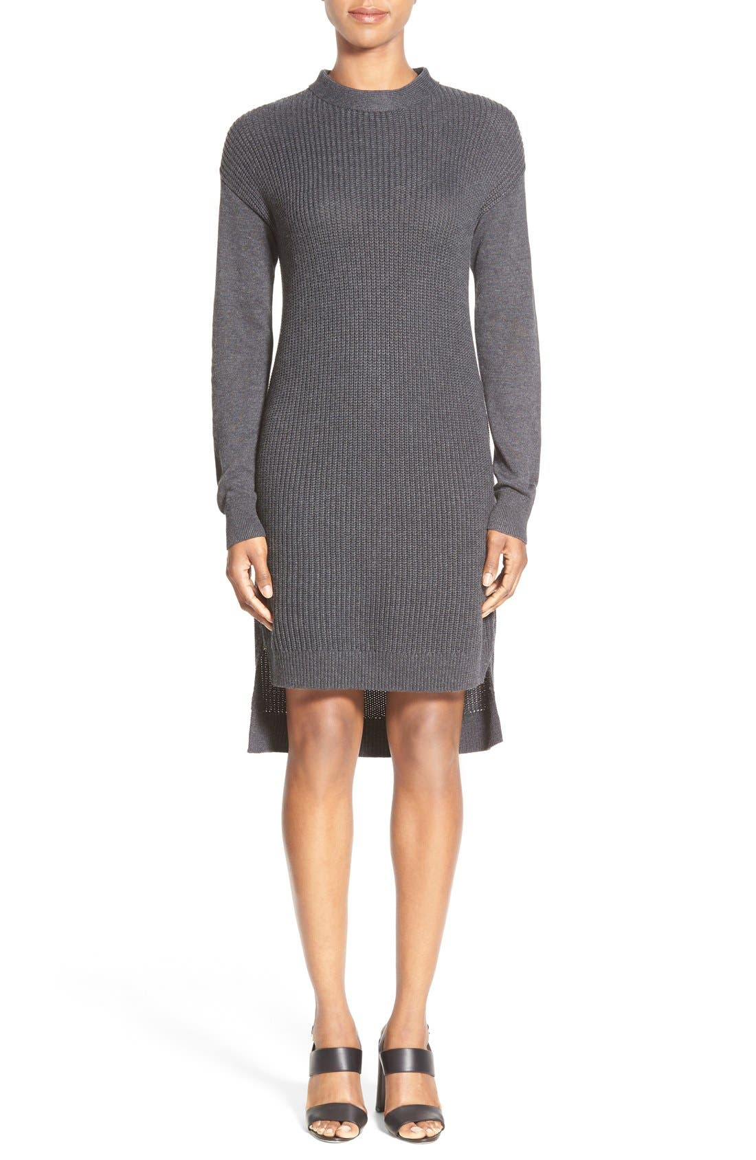 Alternate Image 1 Selected - Halogen® Stitch Detail Knit Tunic (Regular & Petite)