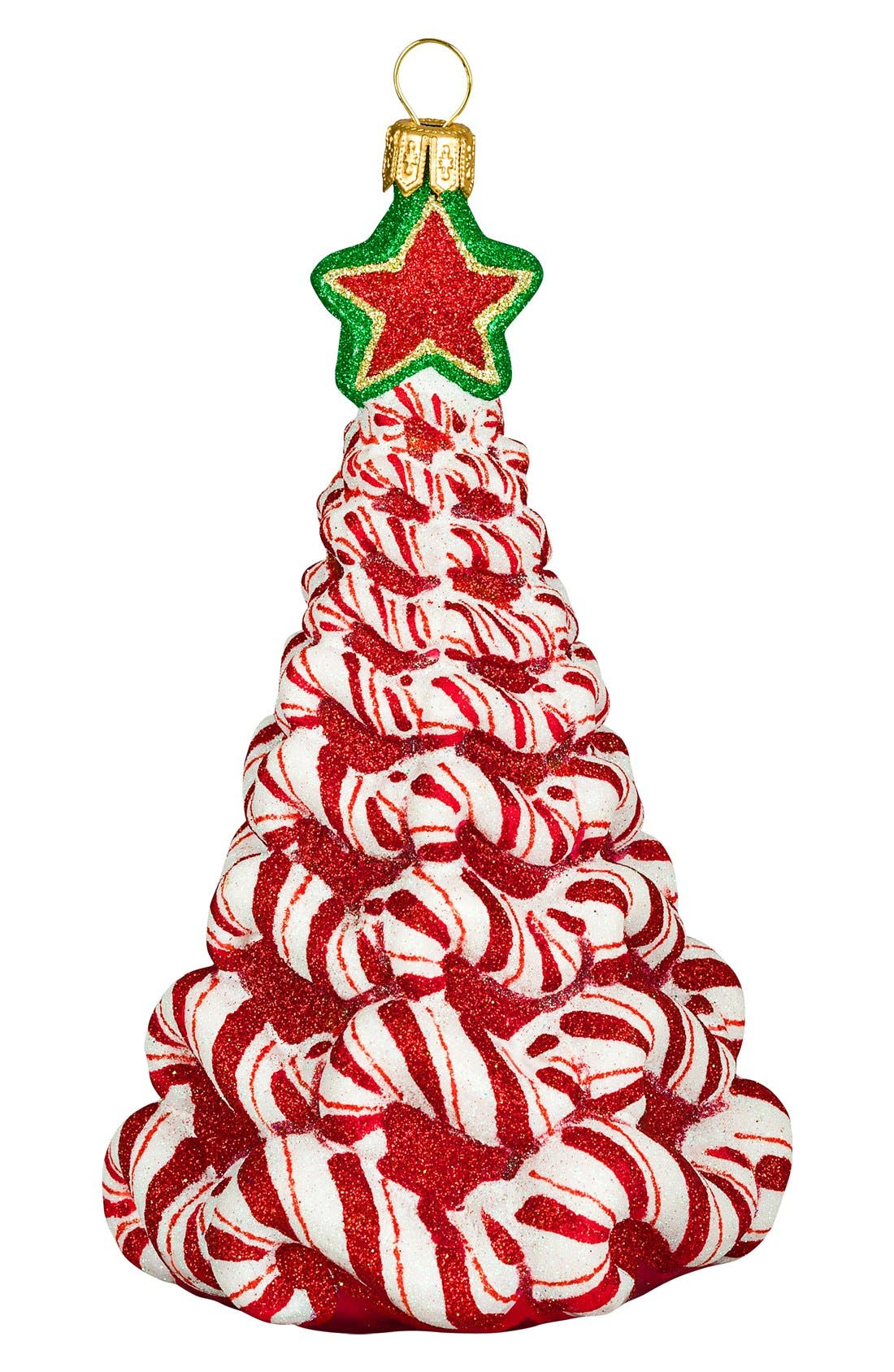Joy to the World Collectibles 'Glitterazzi Christmas Tree' Ornament,                         Main,                         color, Red Multi