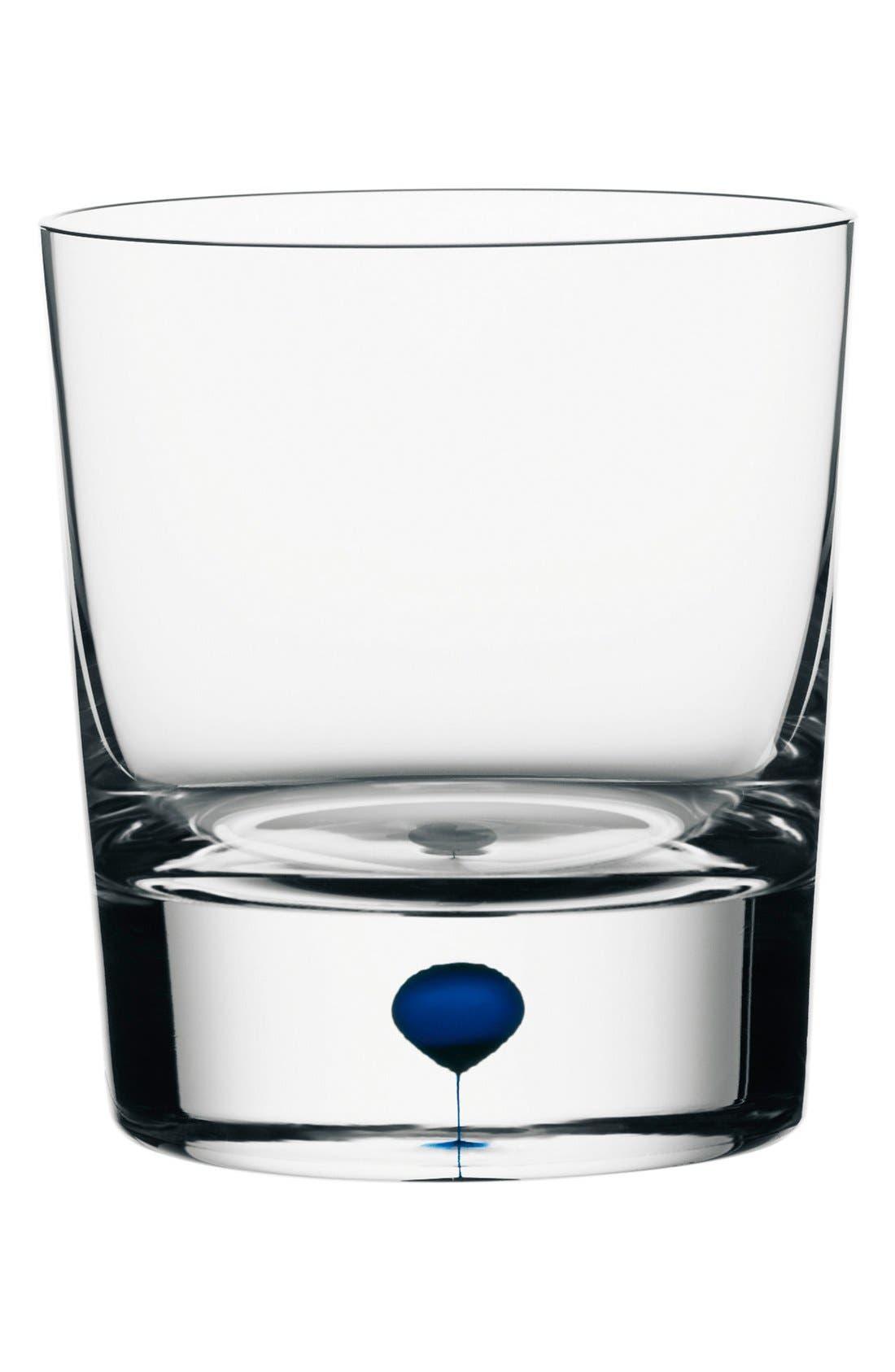 'Intermezzo' Old-Fashioned Glass,                         Main,                         color, Clear/ Blue