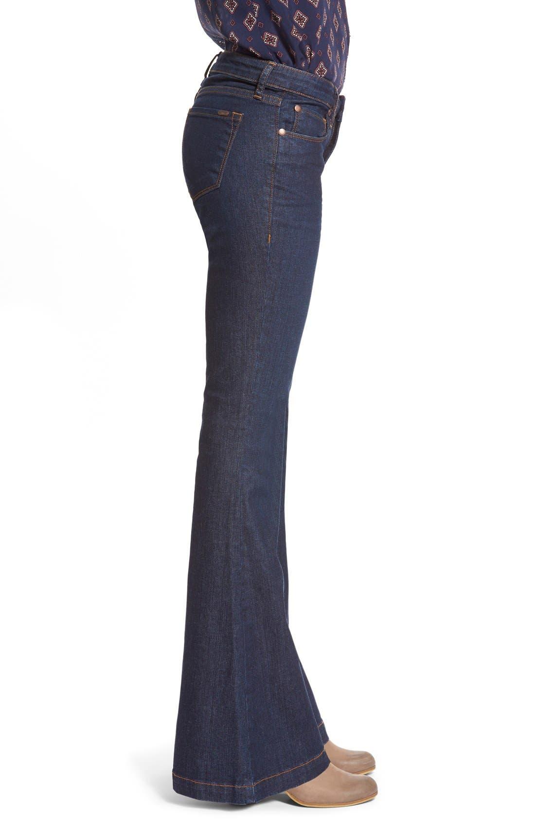 Alternate Image 3  - STSBlue 'Nikki' Flare Leg Skinny Jeans (Napa)
