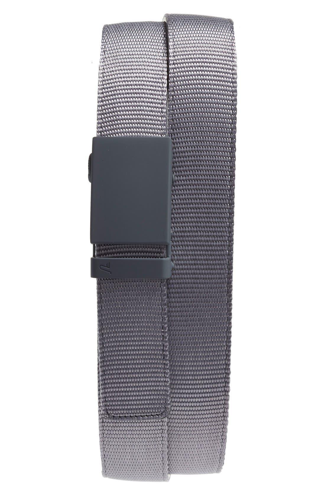 Nylon Belt,                         Main,                         color, Matte Grey/ Grey Nylon