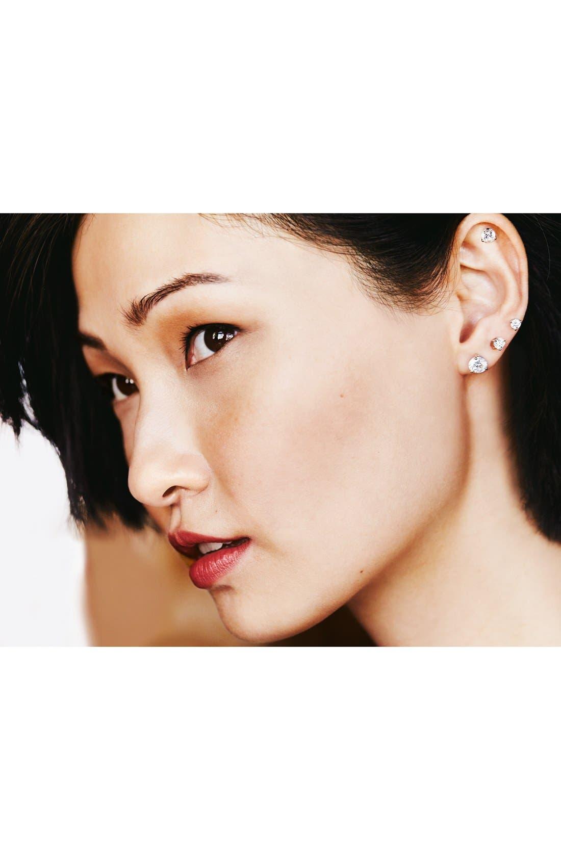 Alternate Image 5  - Nordstrom Precious Metal Plated 1ct tw Cubic Zirconia Earrings