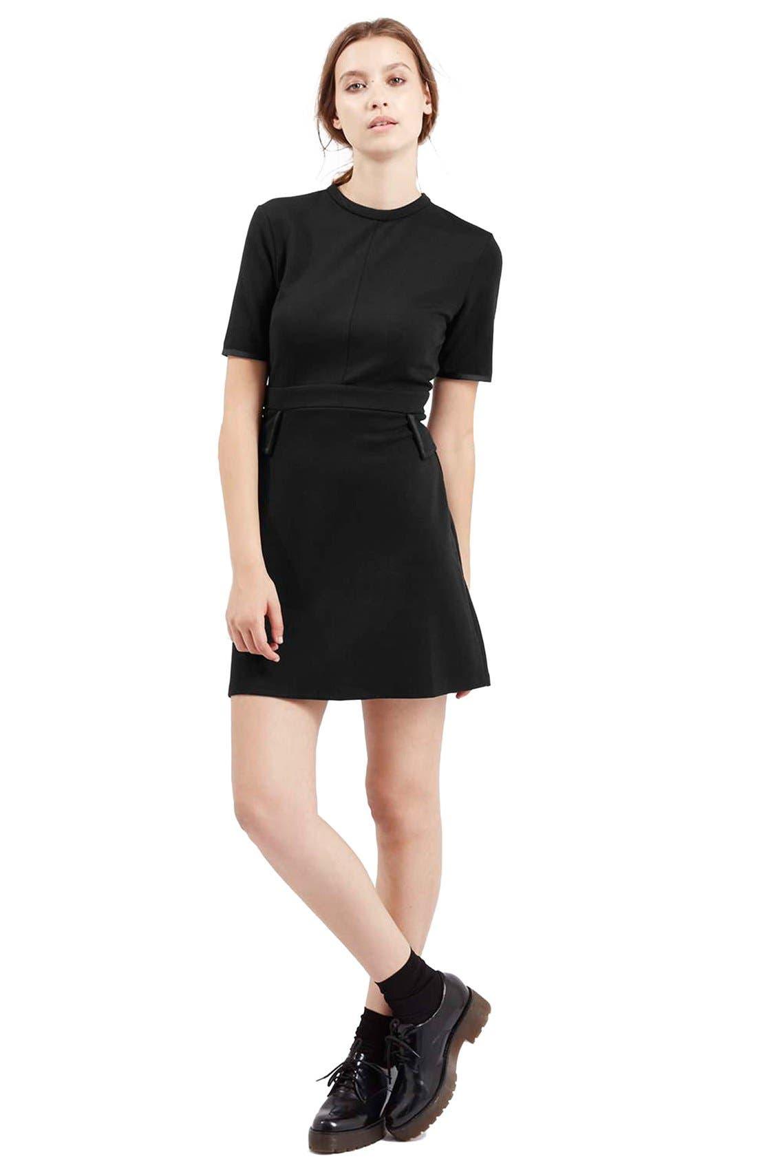Alternate Image 2  - TopshopHigh Neck A-Line Dress