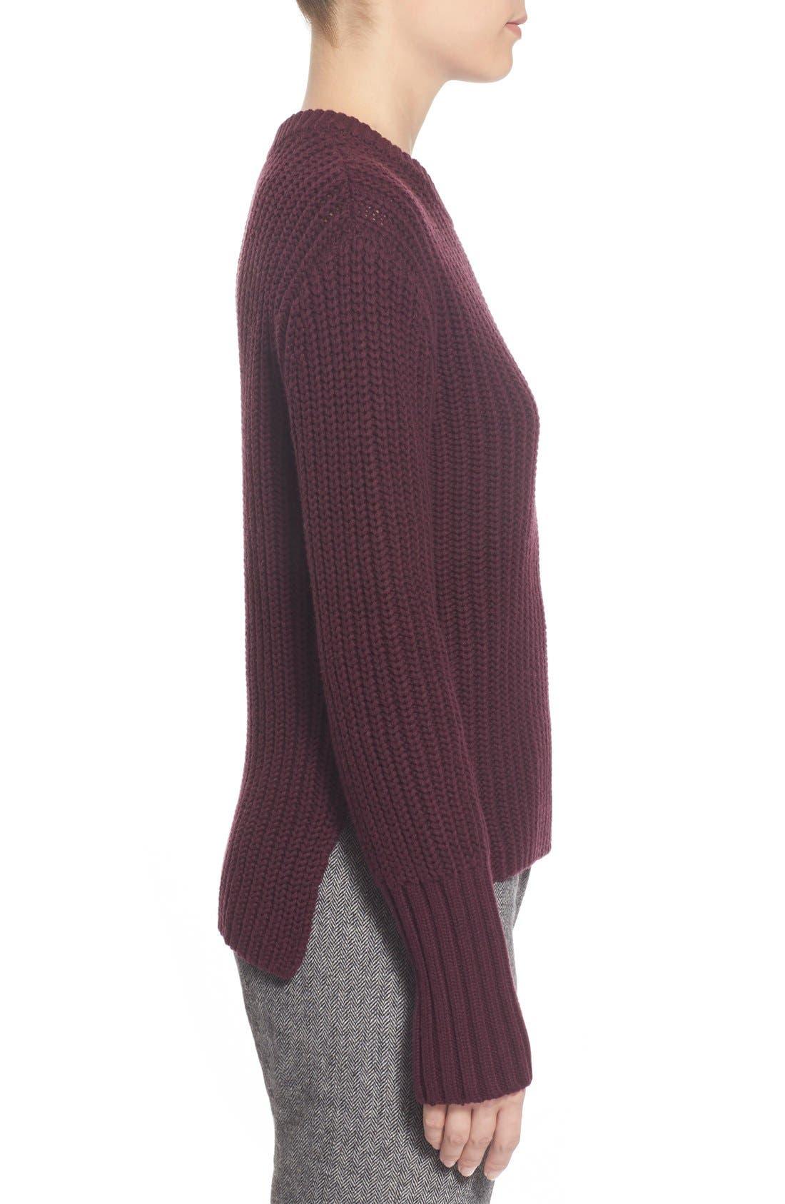 Alternate Image 3  - Pink Tartan Tubular Cuff Wool & CottonSweater