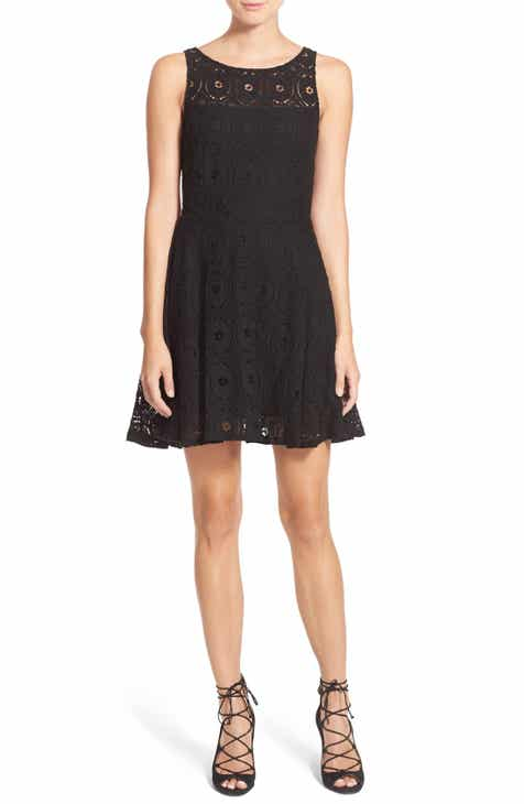 1ced44bb1b1f BB Dakota Renley Lace Fit & Flare Dress (Nordstrom Exclusive)