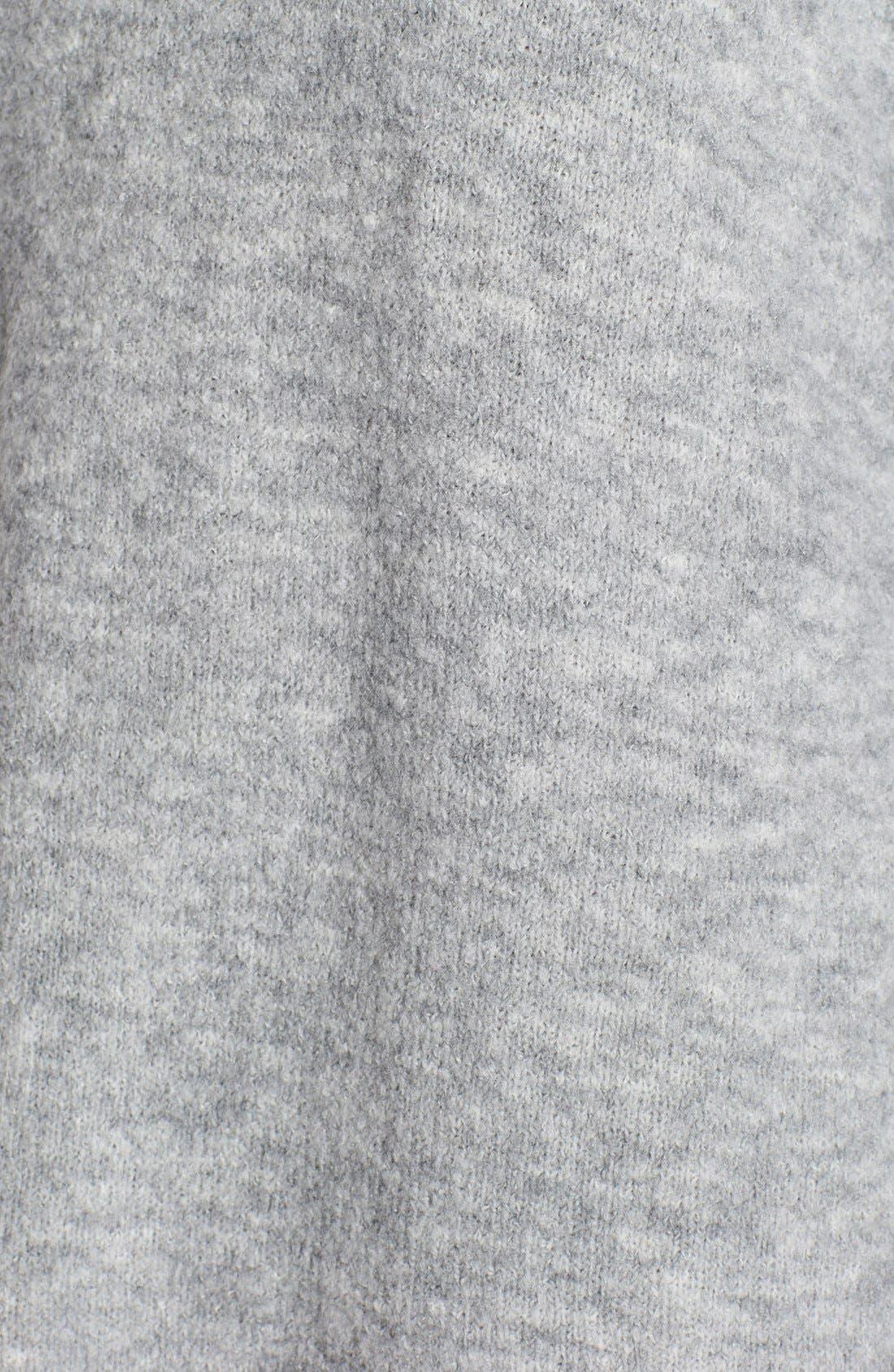 'Leighton' Turtleneck Sweater Dress,                             Alternate thumbnail 6, color,                             Grey