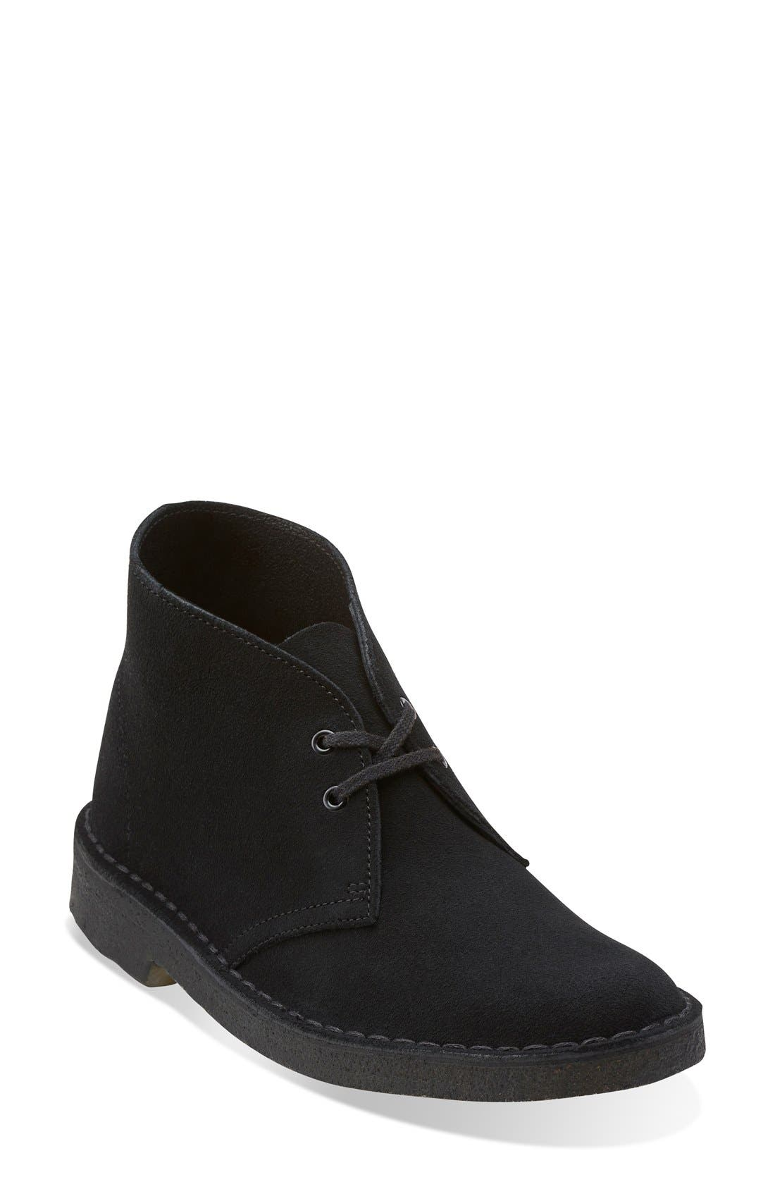 'Desert' Chukka Boot,                         Main,                         color, Black Suede