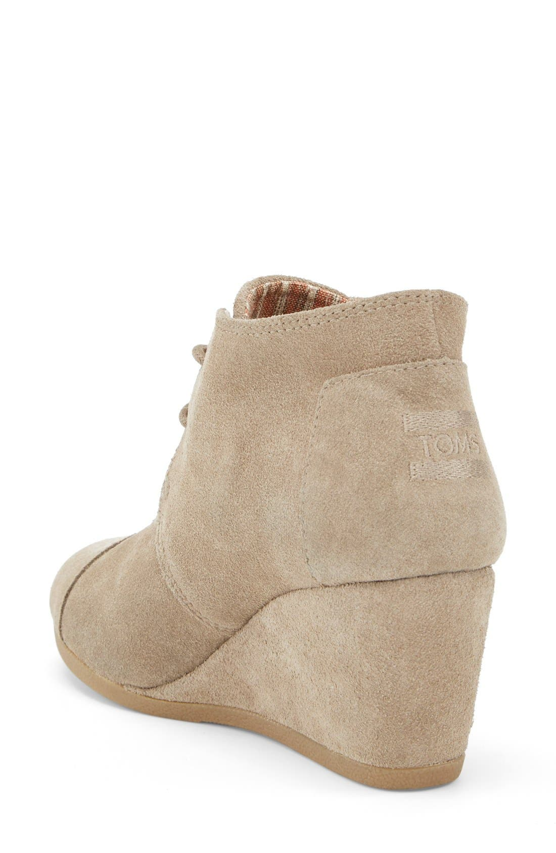 'Desert' Wedge Bootie,                             Alternate thumbnail 2, color,                             Taupe Suede