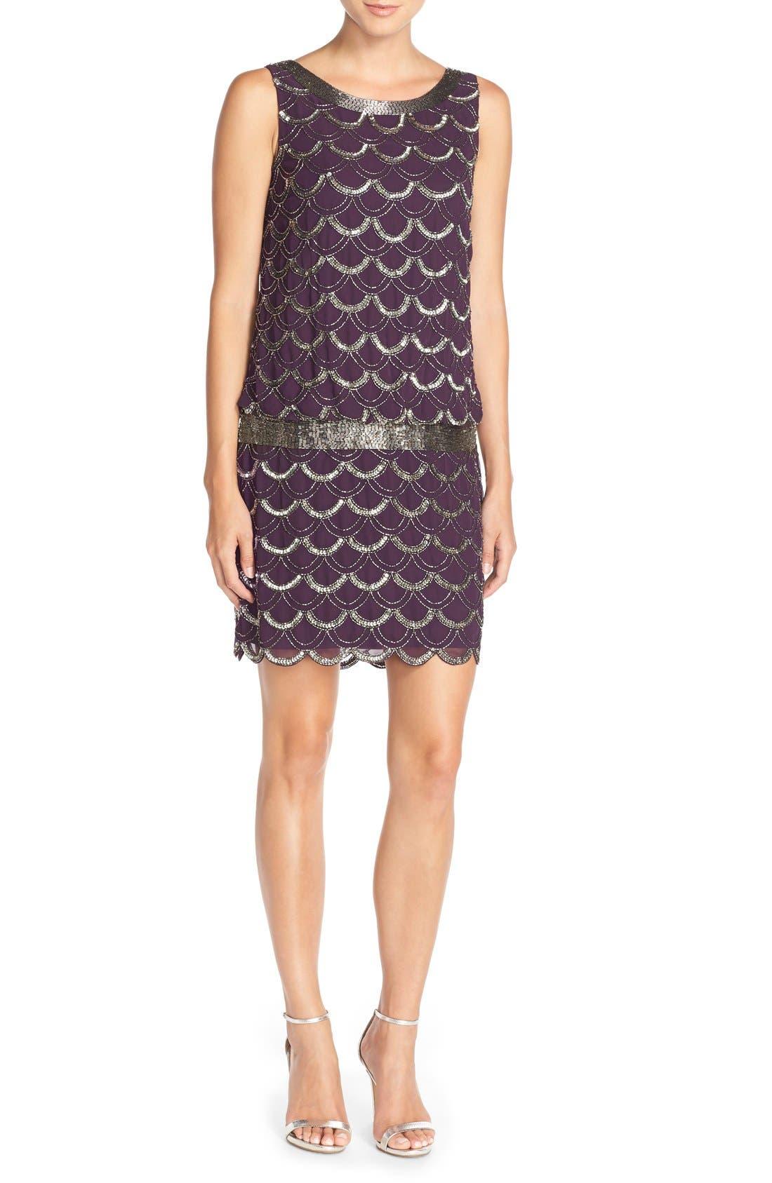 Alternate Image 4  - Adrianna Papell Beaded Chiffon Dress (Regular & Petite)