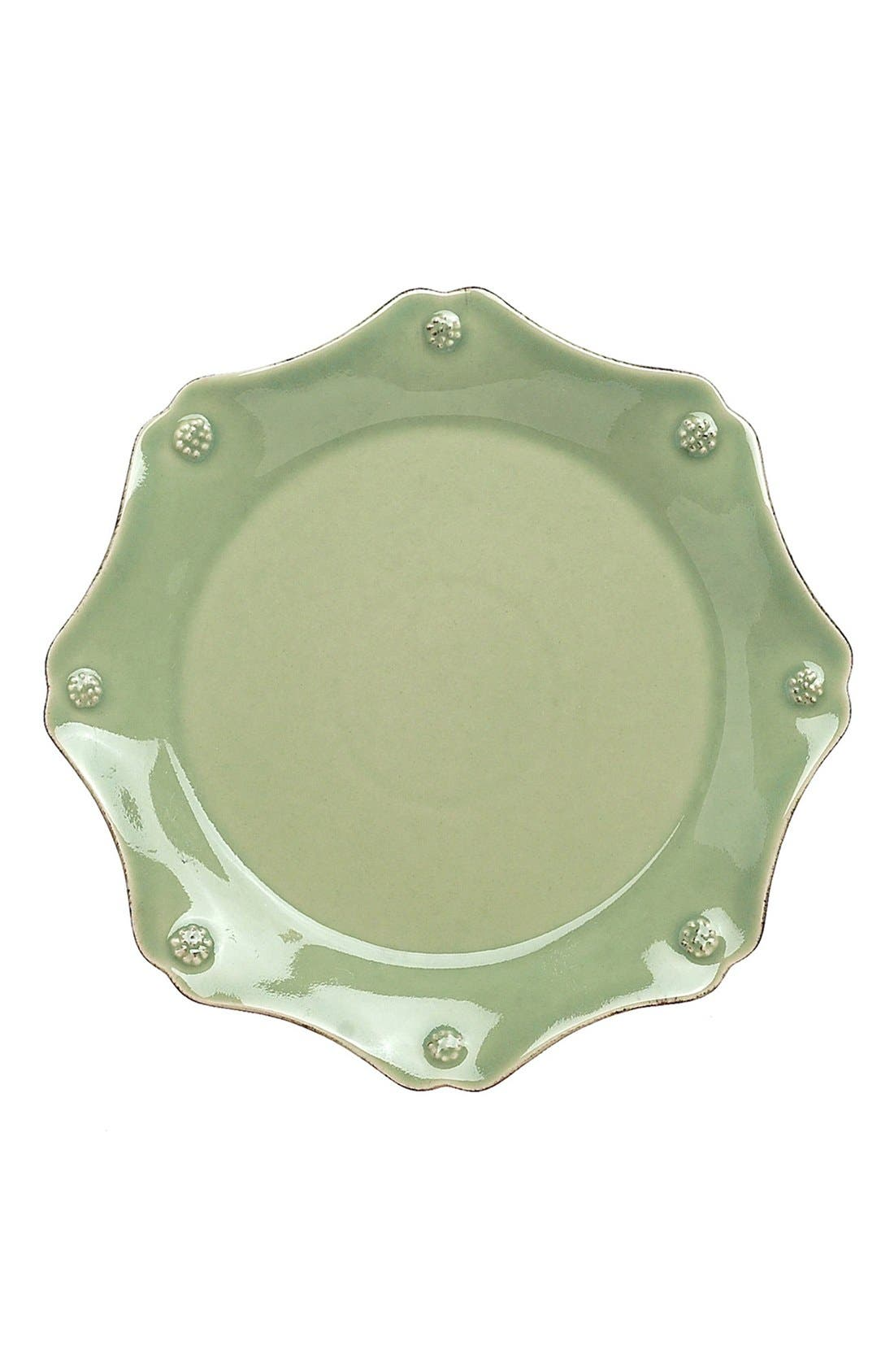 'Berry and Thread' Scalloped Salad Plate,                             Main thumbnail 1, color,                             Pistachio