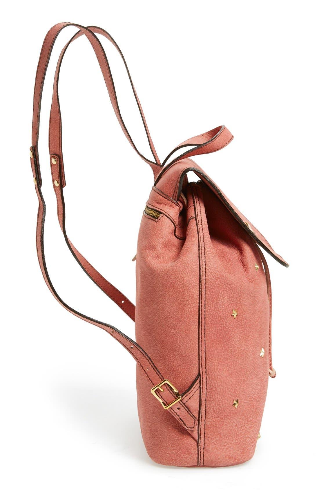 Alternate Image 5  - Mercules 'Greyhound' Studded Nubuck Backpack