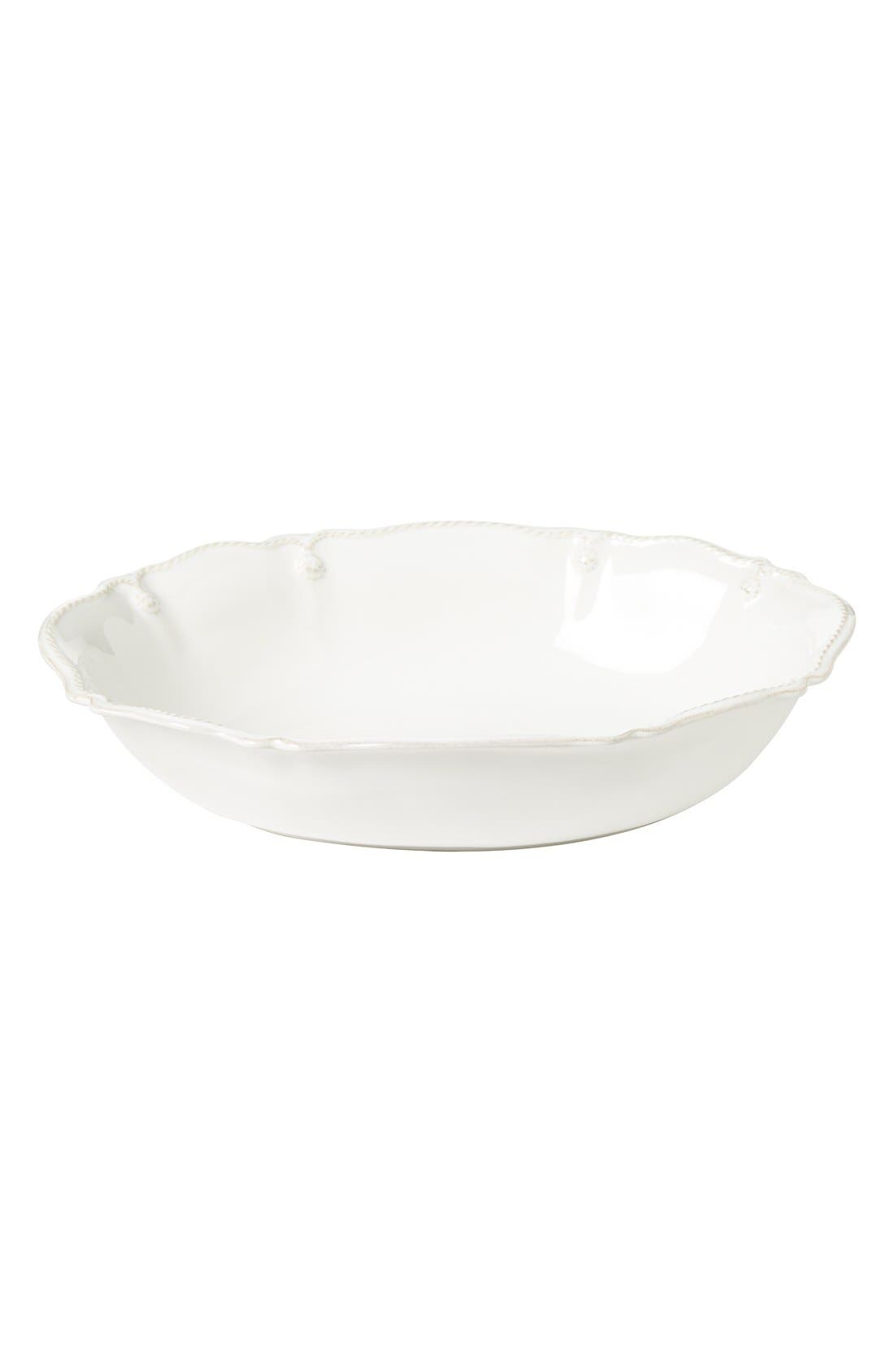 'Berry and Thread' Oval Serving Bowl,                             Main thumbnail 1, color,                             Whitewash