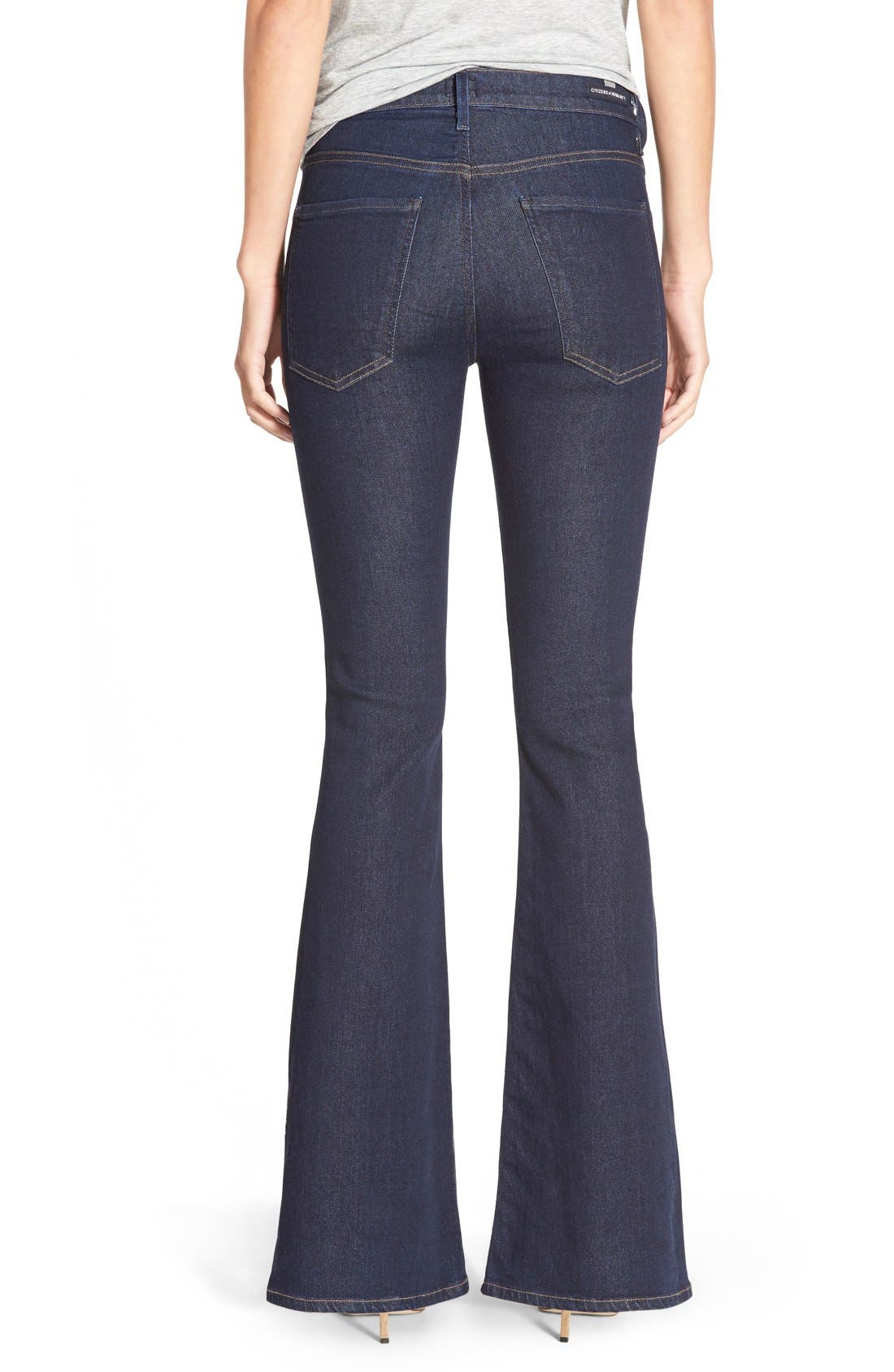 'Fleetwood' High Rise Flare Jeans,                             Alternate thumbnail 2, color,                             Ozone Rinse
