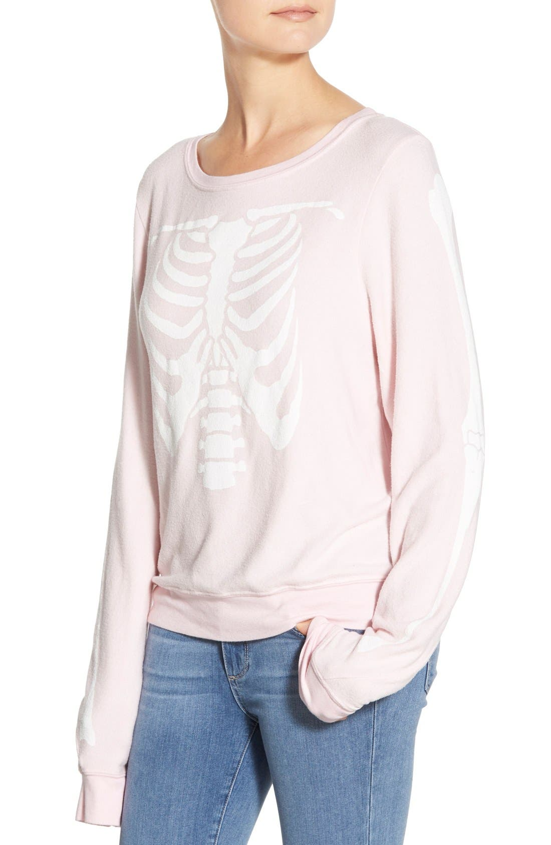Alternate Image 5  - Wildfox 'Inside Out' Long Sleeve Sweatshirt