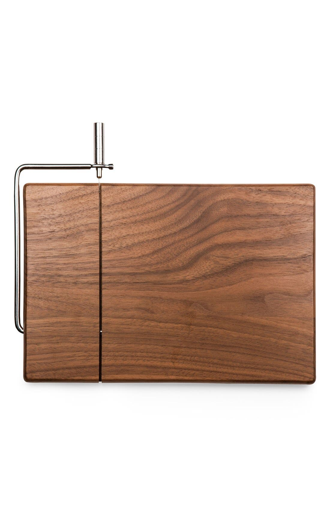 'Meridian' Black Walnut Cutting Board with Slicer,                             Alternate thumbnail 3, color,                             Black