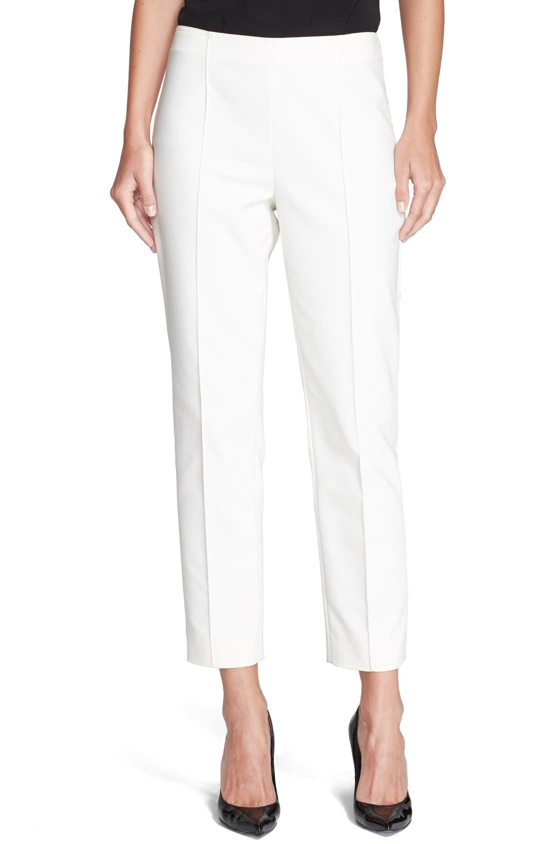 Alternate Image 1 Selected - St. John Collection 'Alexa' Stretch Micro Ottoman Ankle Pants