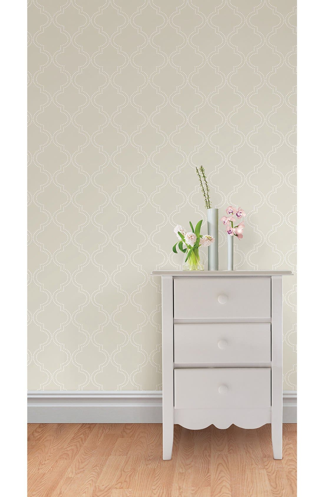Alternate Image 2  - Wallpops 'Quatrefoil'  Peel & Stick Vinyl Wallpaper