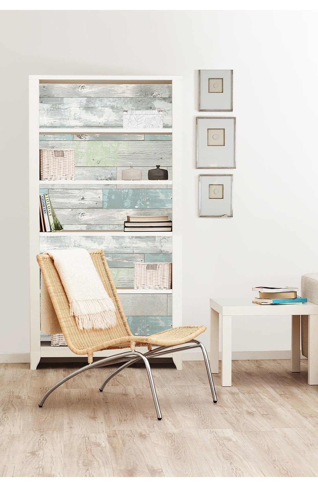 'Beachwood'  Peel & Stick Vinyl Wallpaper,                             Alternate thumbnail 7, color,                             Grey