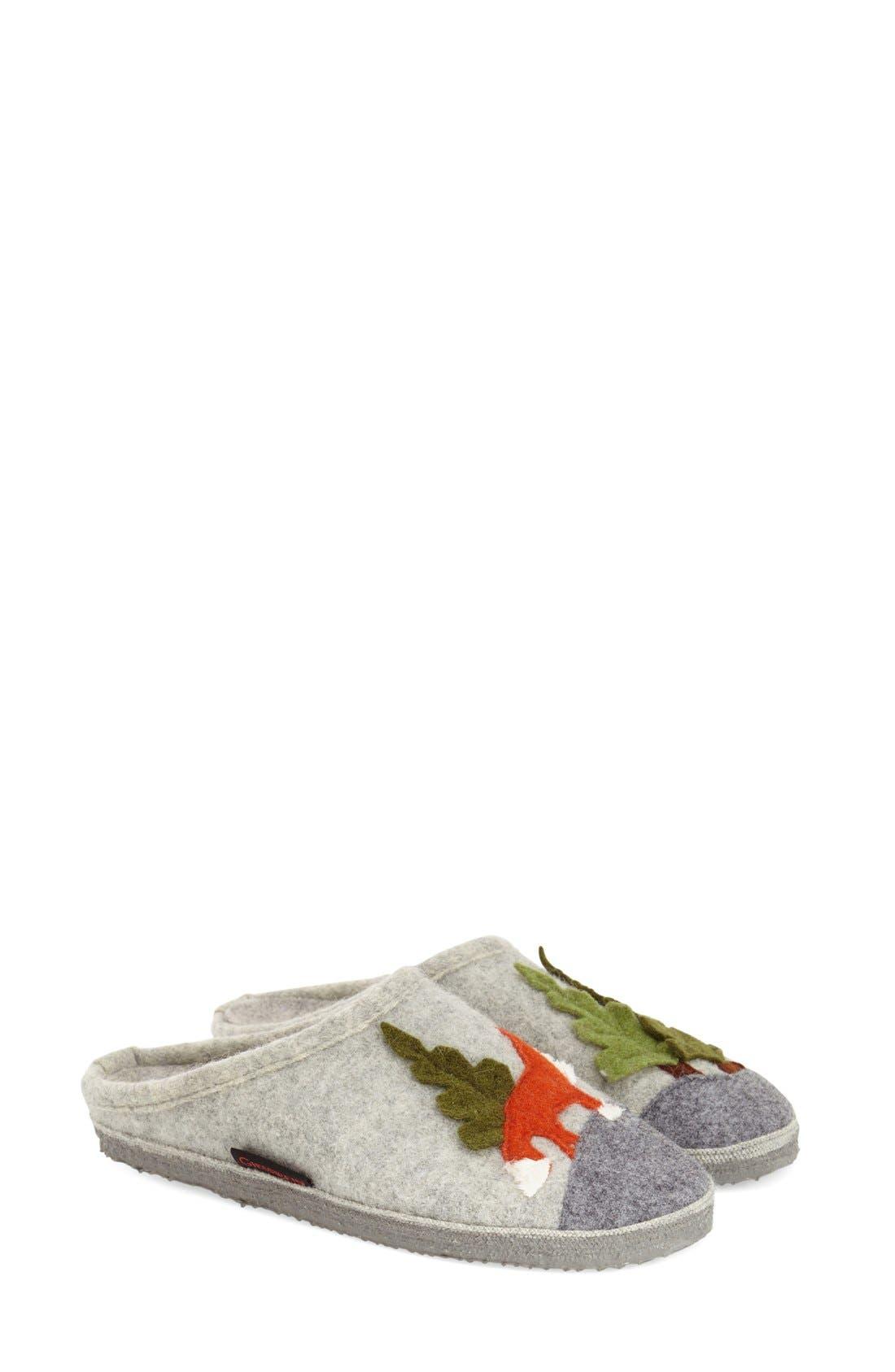 'Laura' Slipper,                             Main thumbnail 1, color,                             Grey Wool
